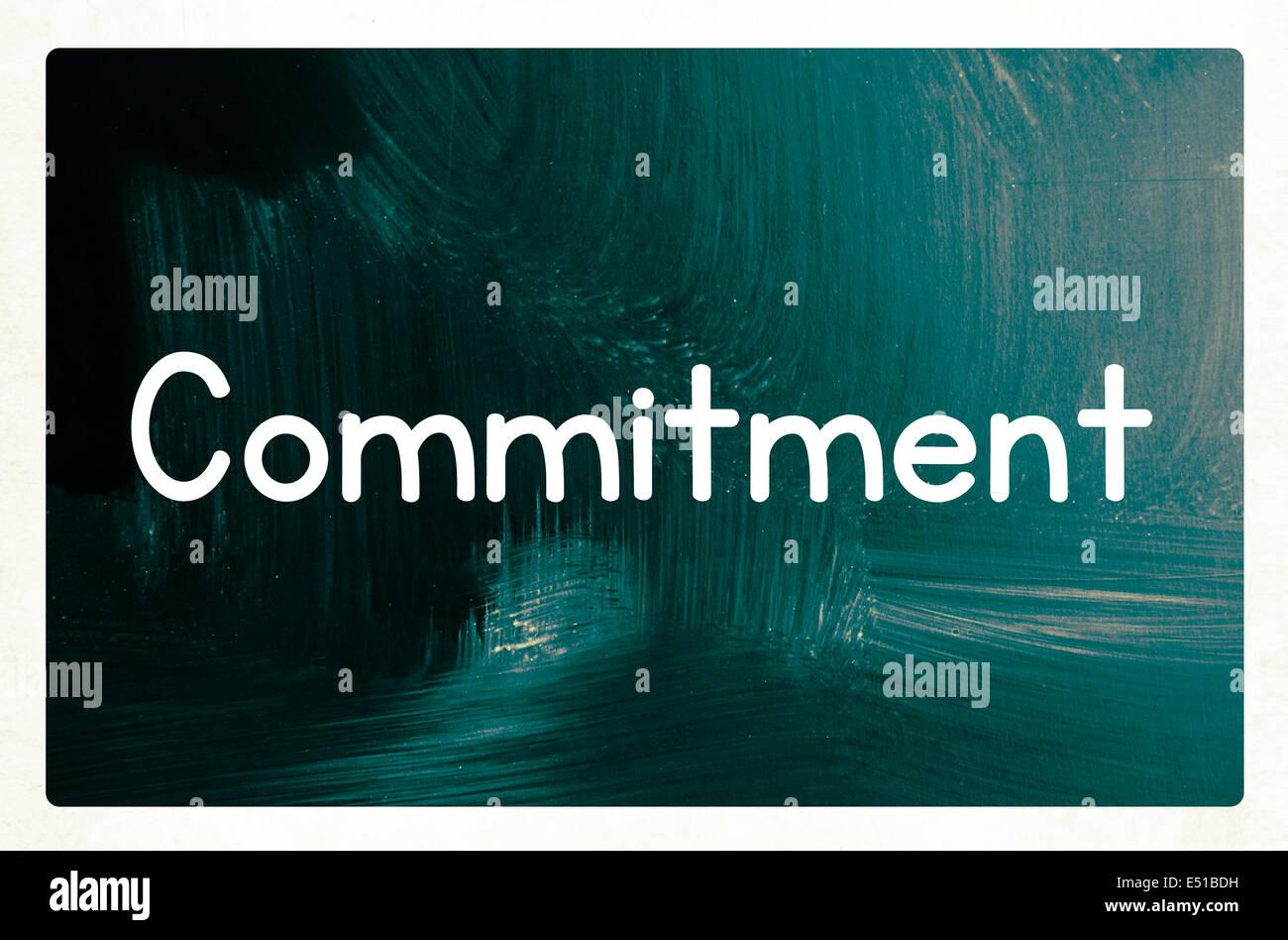 Concepto de compromiso Imagen De Stock