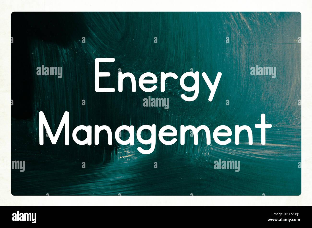 Concepto de administración de energía Imagen De Stock