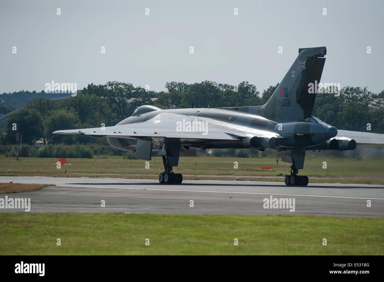 El aeródromo de Farnborough, Hampshire, Reino Unido. El 18 de julio, 2014. La exhibición aeroespacial Imagen De Stock