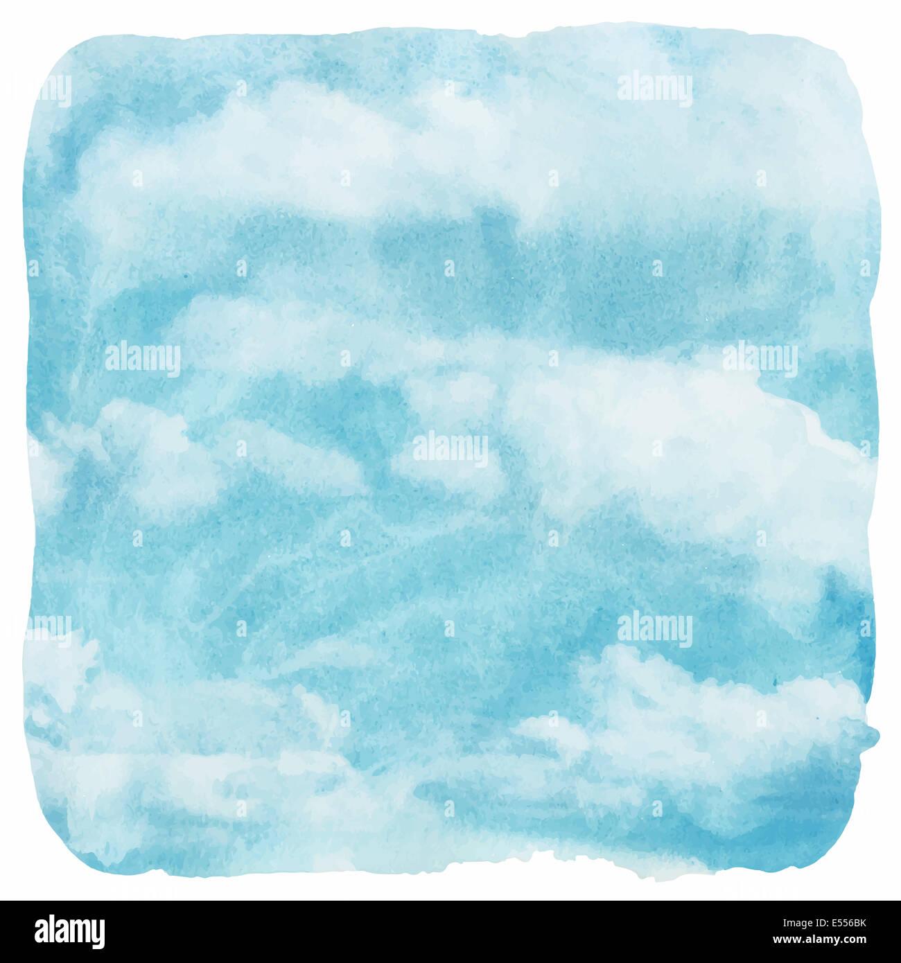 La acuarela nubes y fondo del cielo Imagen De Stock