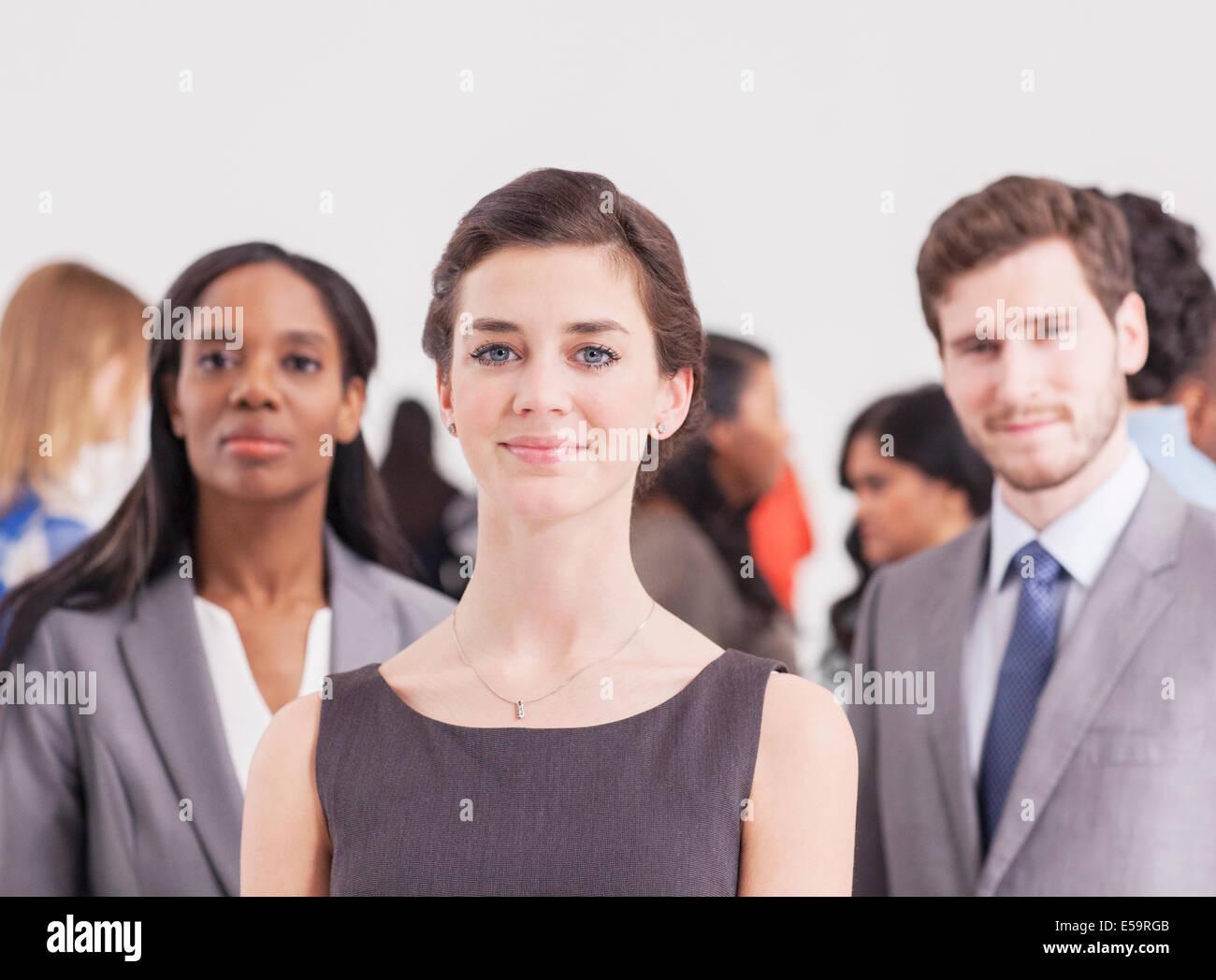 Retrato de seguros de personas de negocios Foto de stock