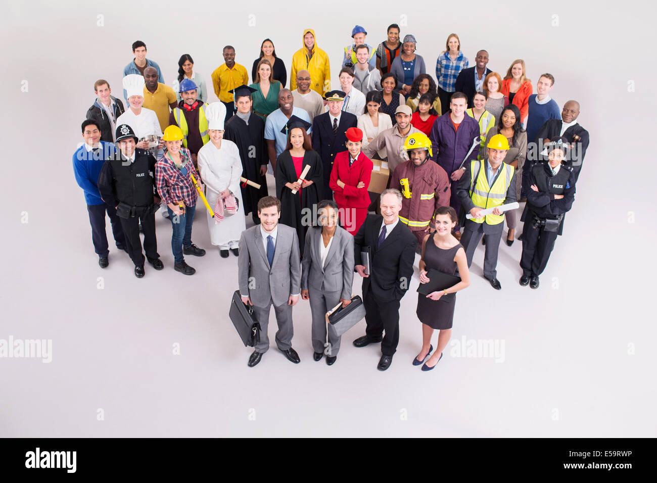 Fuerza laboral diversa Imagen De Stock