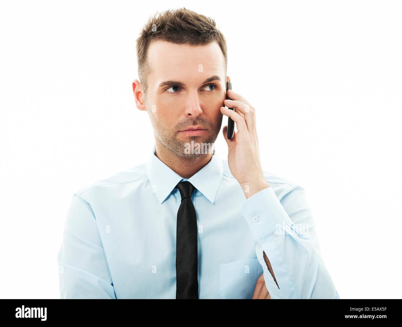 Conversación estresante Debica, Polonia Imagen De Stock