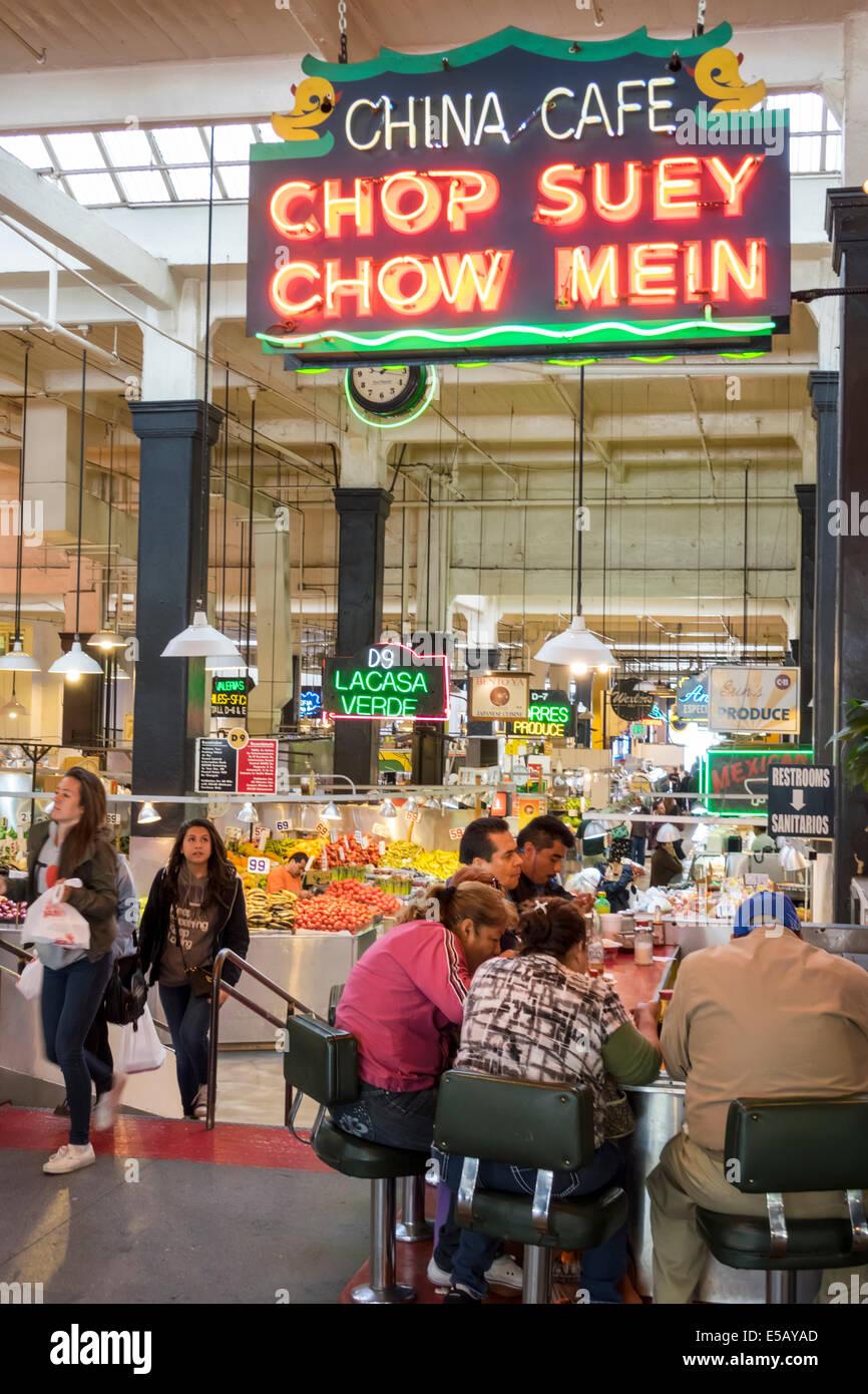 8eca8142f6 Los Angeles CA California L.A. Centro de Grand Central Market mercado  público Homer Laughlin emblemático Imagen