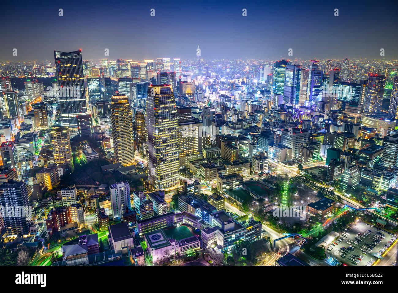 Tokio, Japón del paisaje urbano en el Minato Ward. Imagen De Stock