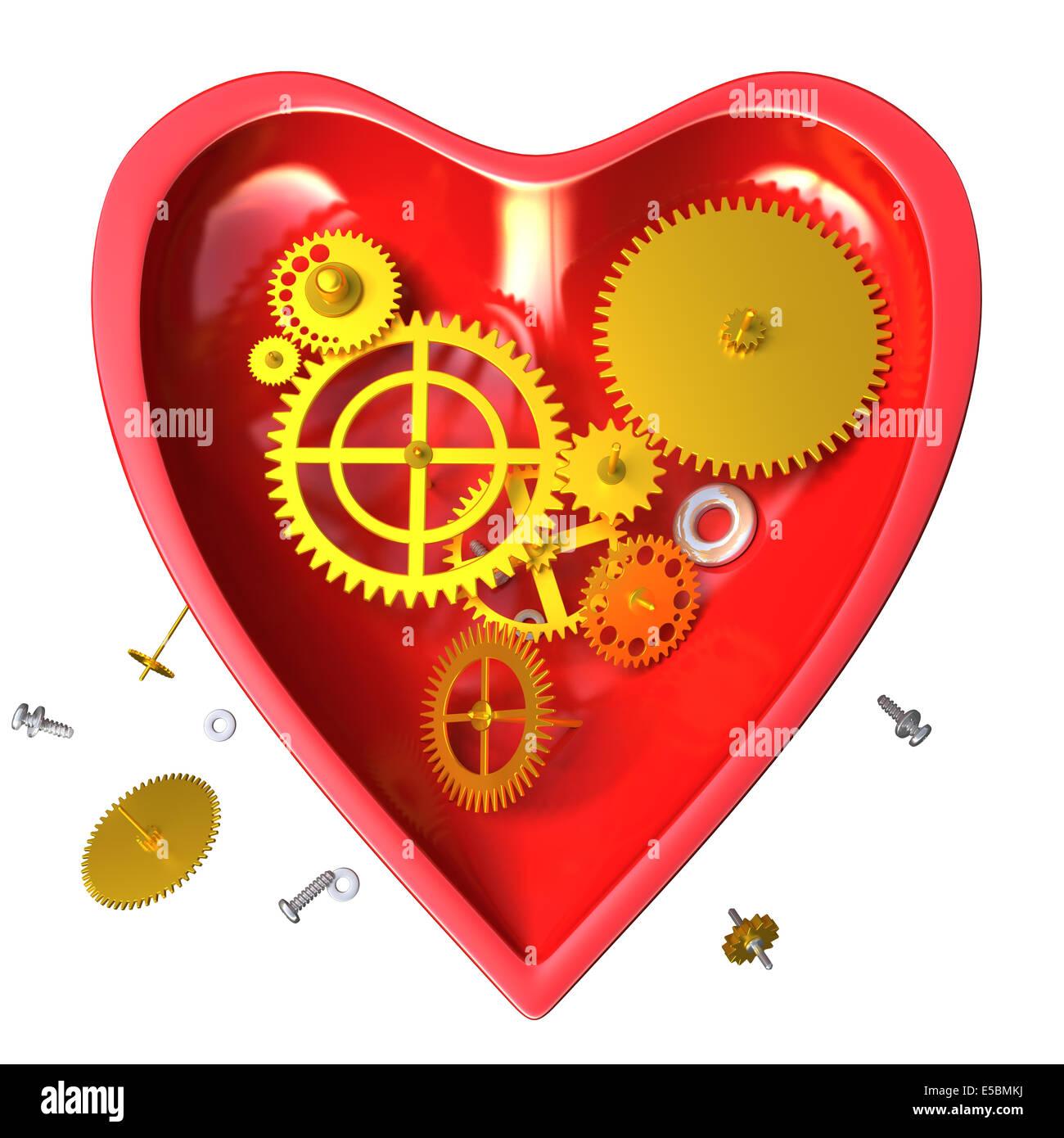 Resultado de imagen de reloj corazón mecánico