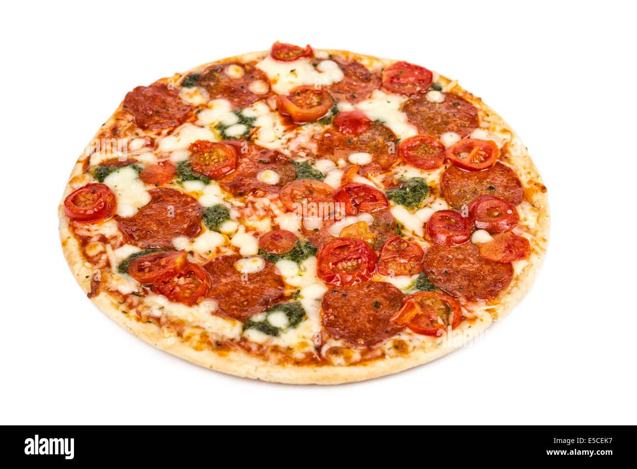 Pizza de pepperoni Imagen De Stock