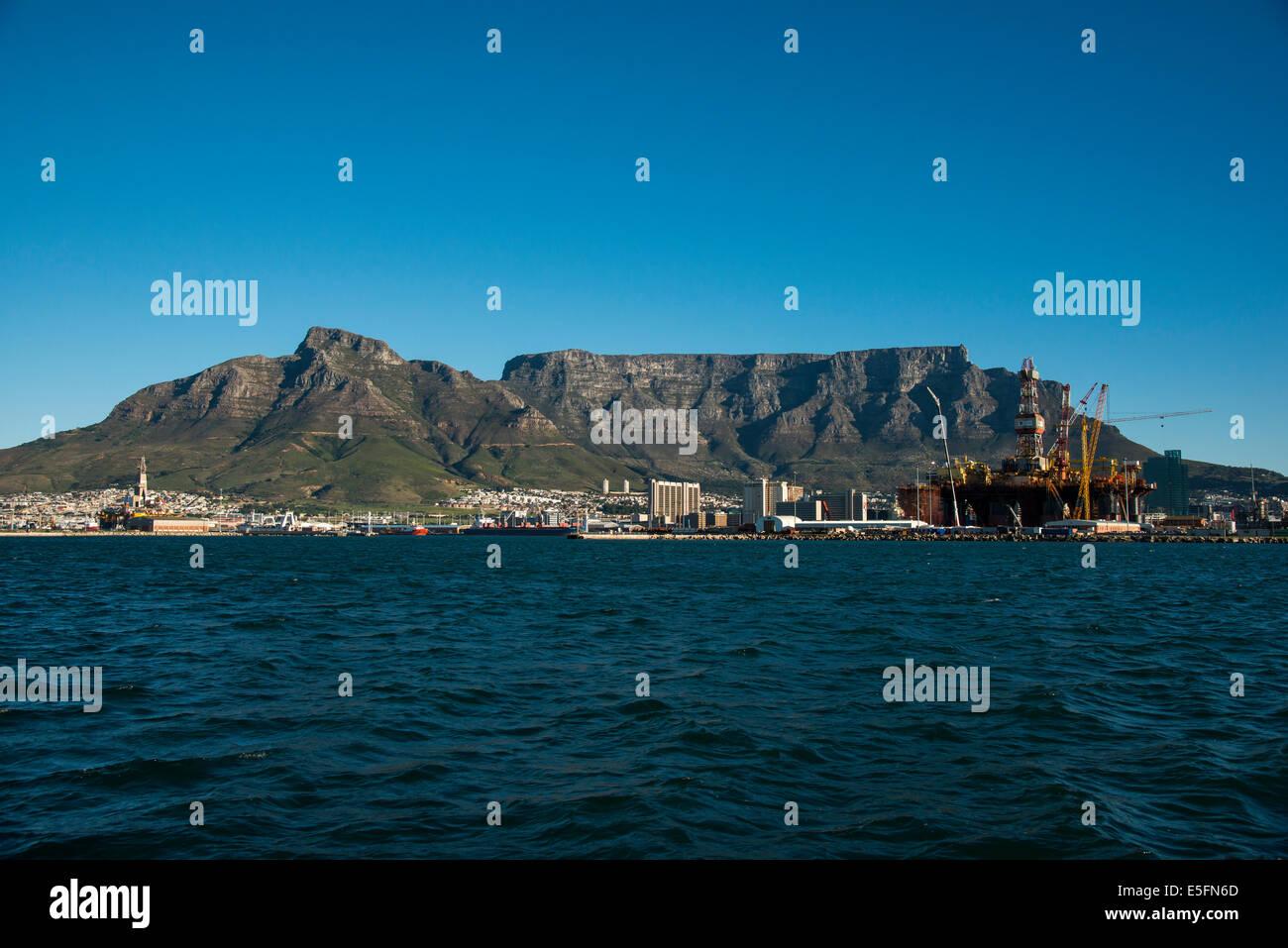 Table Mountain en Ciudad del Cabo, Western Cape, Sudáfrica Imagen De Stock