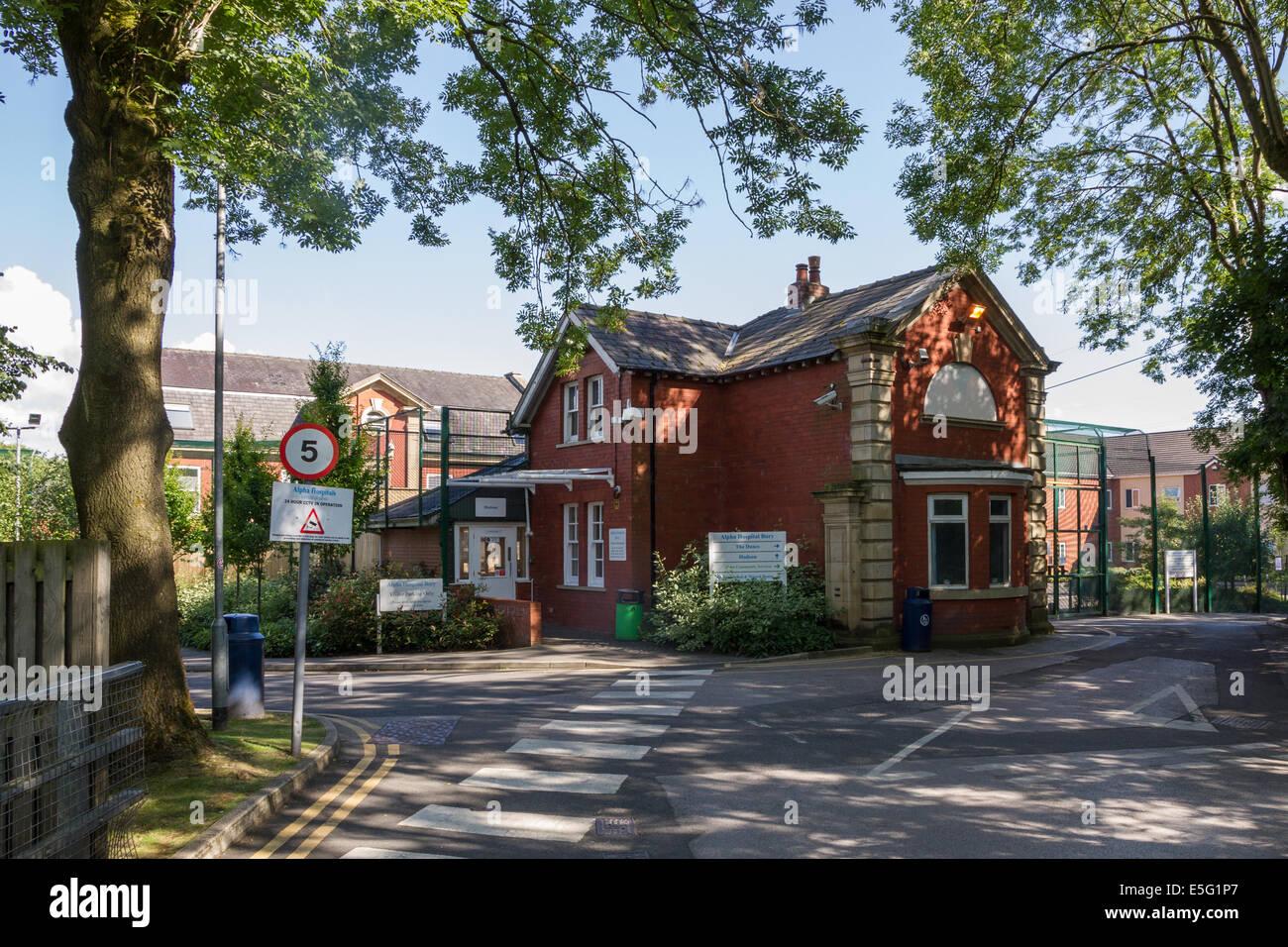 Alfa salud mental hospital privado en Bury, Lancashire Imagen De Stock