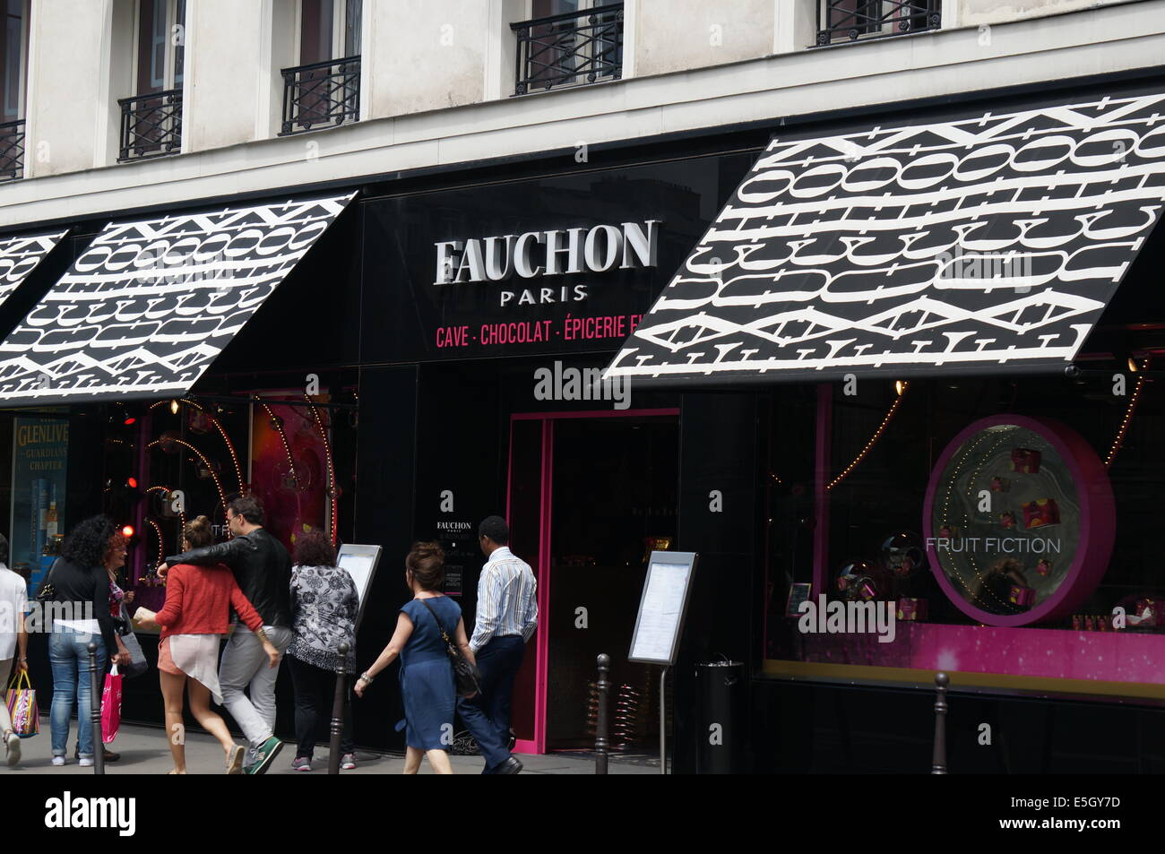 Diseño exterior de Fauchon Paris Imagen De Stock
