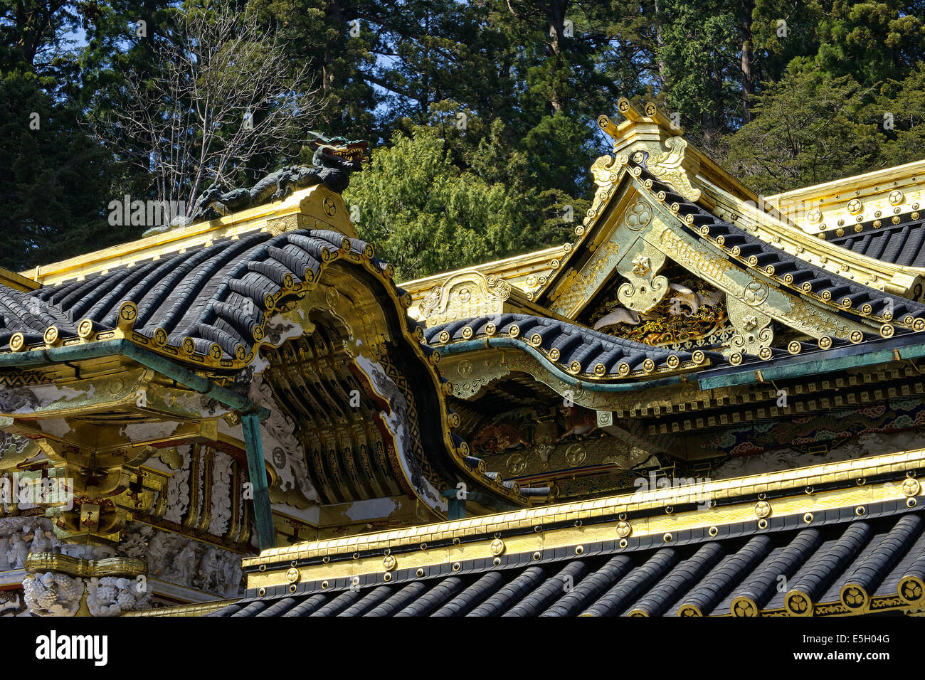 Al santuario de Toshogu, en Nikko, Japón. Imagen De Stock