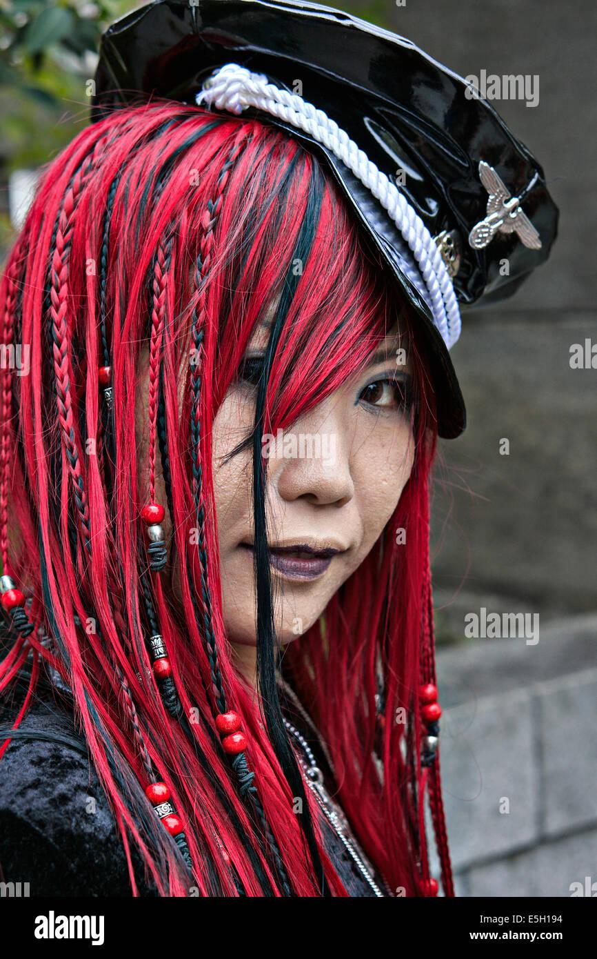 Rockers vestuario en el distrito de Harajuku, Tokio, Japón. Imagen De Stock