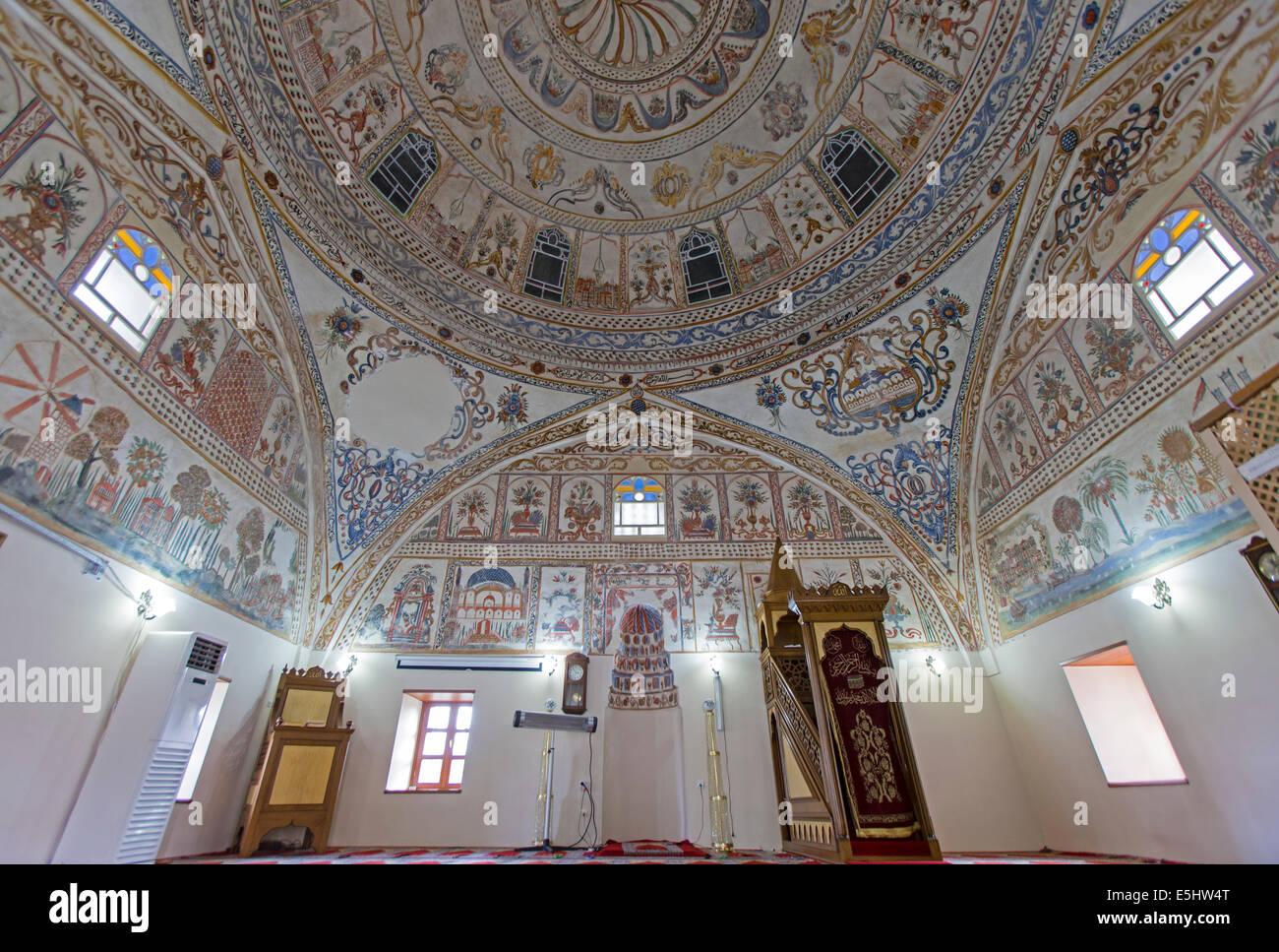 Interior de la mezquita de la aldea de Kula Manisa Turquía Imagen De Stock