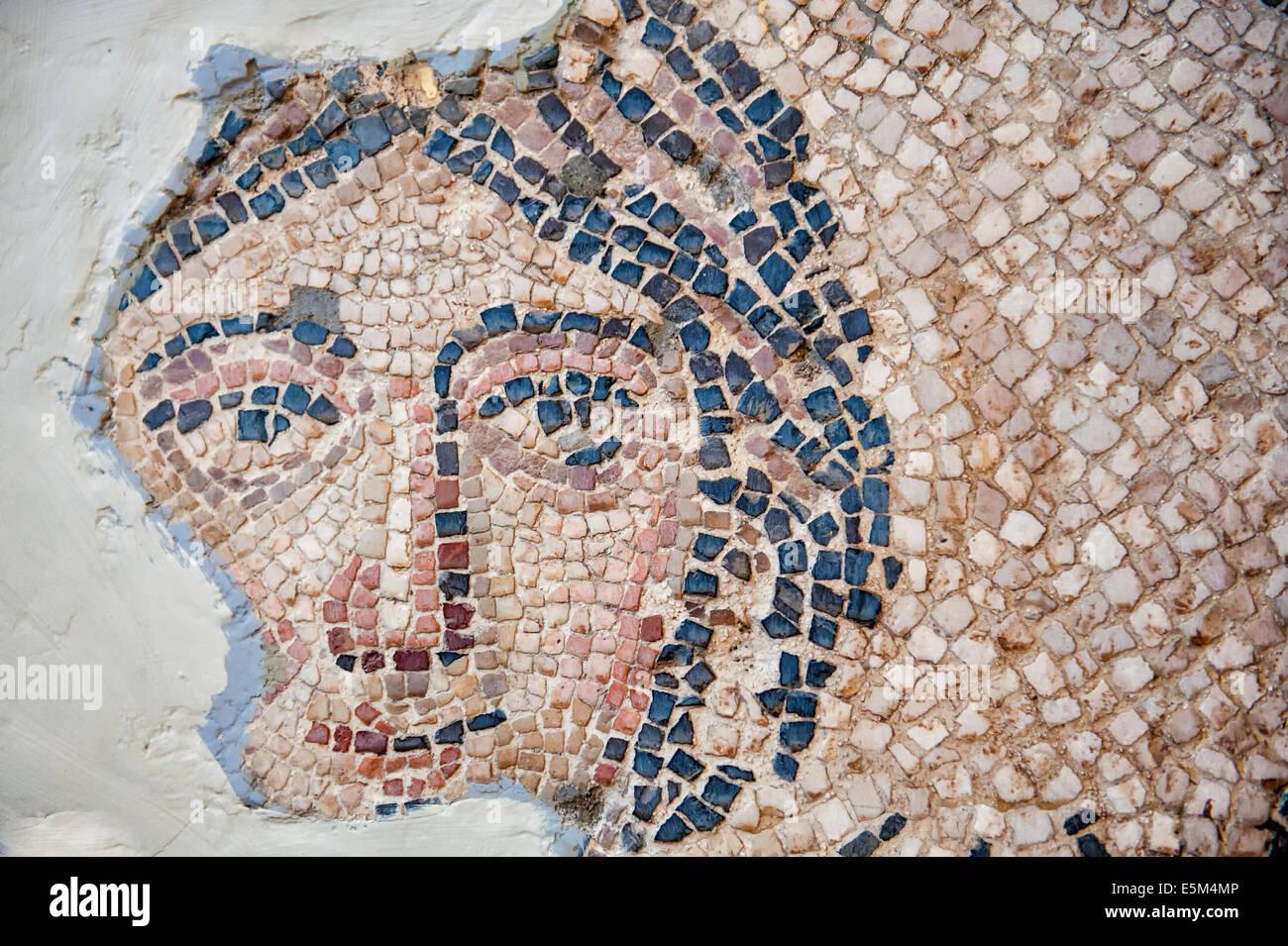 Ananeosis (despertar) mosaico, 5% A.C., Museo de Arqueología de Hatay, Antioquía, provincia de Hatay, en el suroeste de Turquía Foto de stock