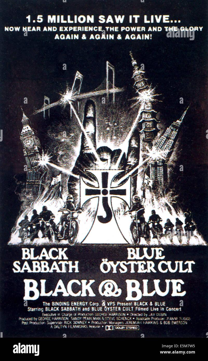 Negro y azul, carteles de cine, 1980 Imagen De Stock