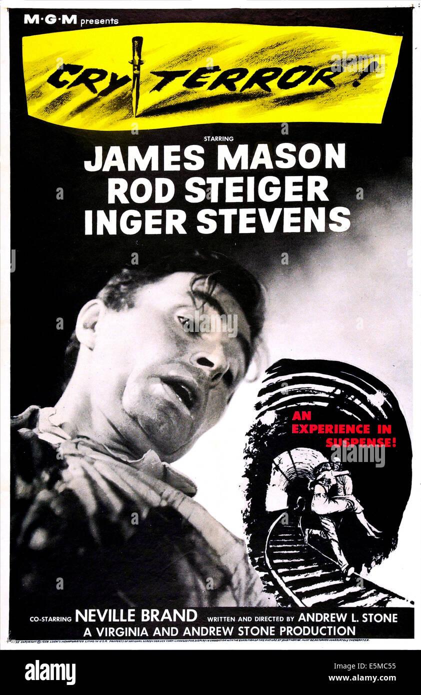 Grito terror!, nosotros póster, James Mason, 1958 Foto de stock