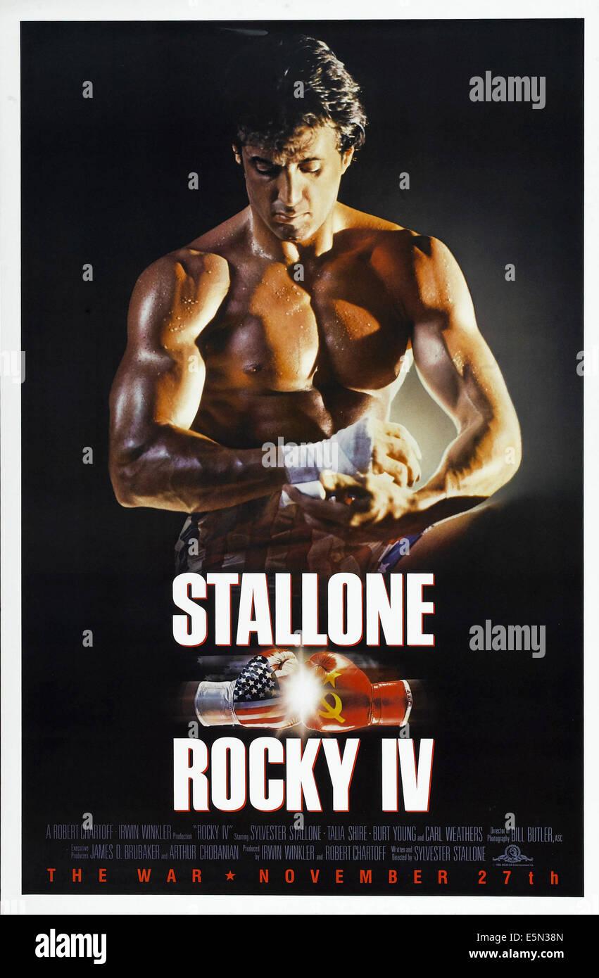 ROCKY IV, Sylvester Stallone, 1985 ©MGM/UA/cortesía Colección Everett Foto de stock
