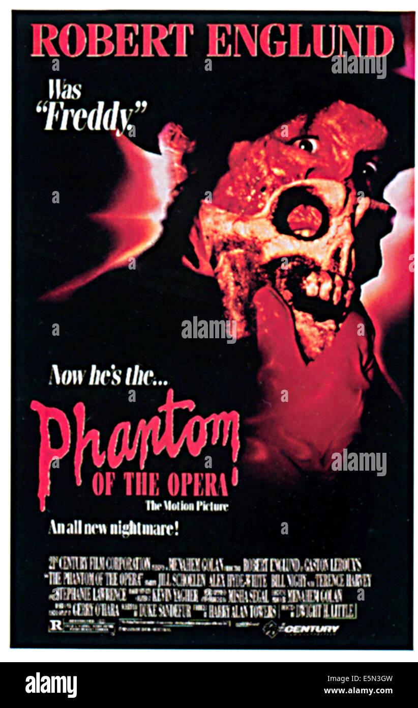 El Fantasma de la Opera, Robert Englund, 1989 Imagen De Stock
