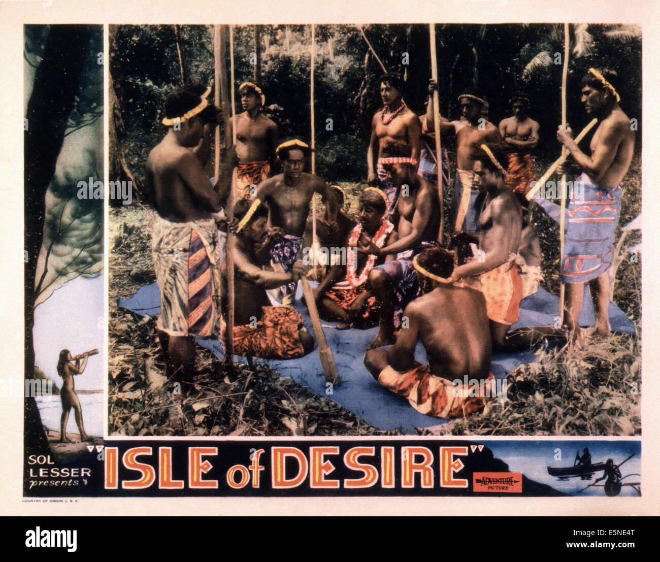 Isla de deseo, 1930 Foto de stock