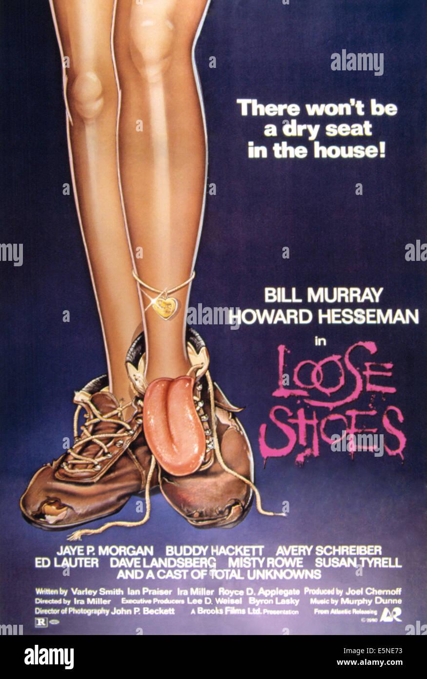 Zapatos sueltos, 1980 Imagen De Stock