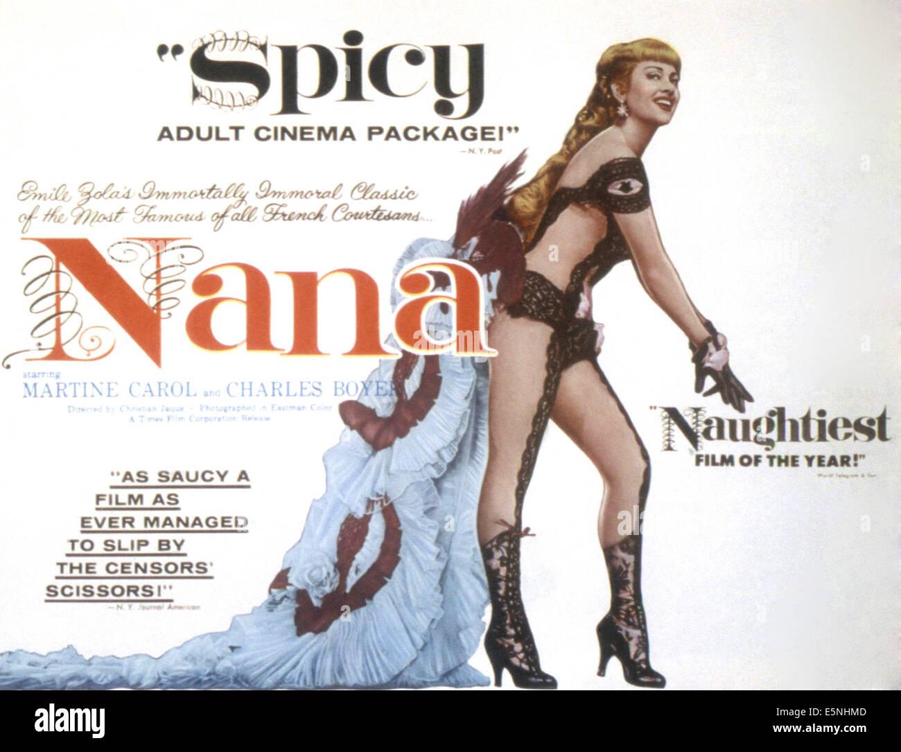 NANA, Martine Carol, 1955 Foto de stock