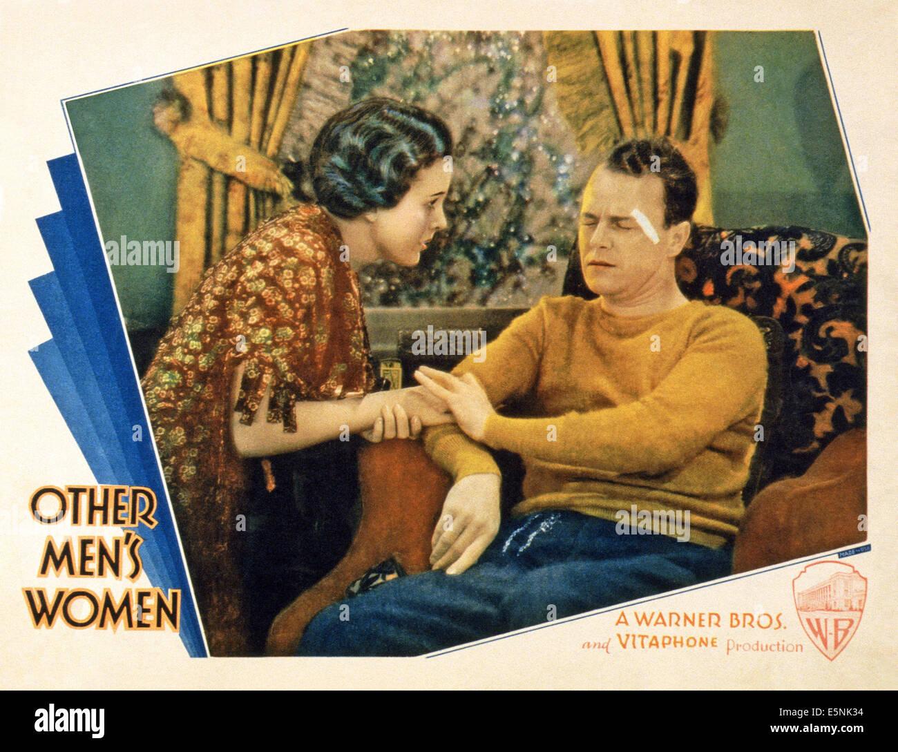 Otros hombres, mujeres, de izquierda a derecha: Mary Astor, Grant Withers, 1931 Imagen De Stock