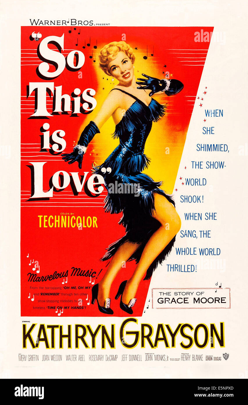 Así que esto es amor, Kathryn Grayson, 1953 Foto de stock
