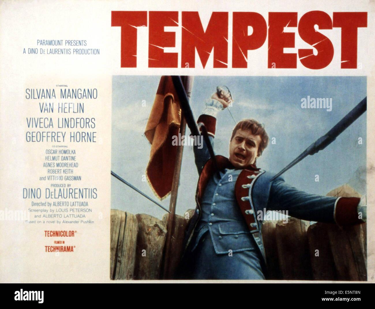TEMPEST, (aka LA TEMPESTA), Geoffrey Horne, 1958 Foto de stock