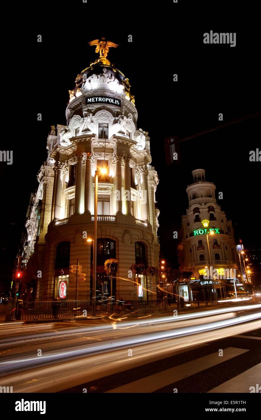 Edificio metrópolis, Gran Via, Madrid, España. Imagen De Stock