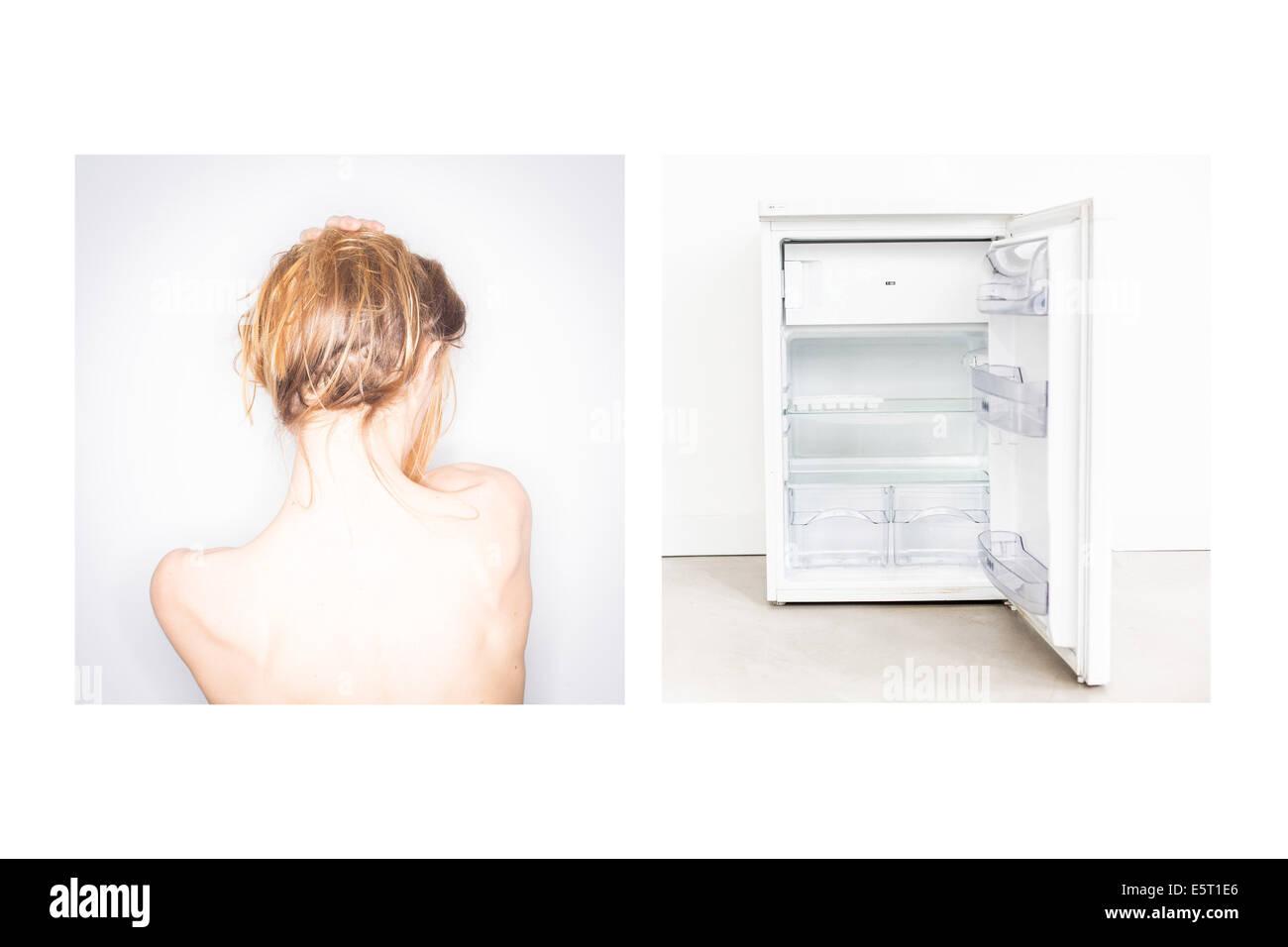 Concepto de la Anorexia. Foto de stock