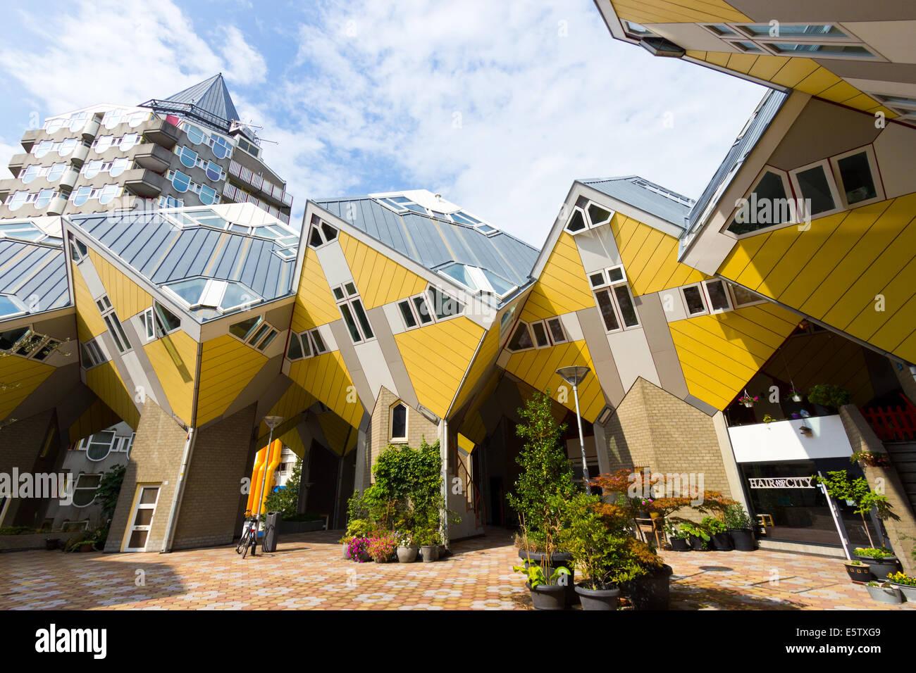 Casas cubo en Rotterdam, Países Bajos. Imagen De Stock
