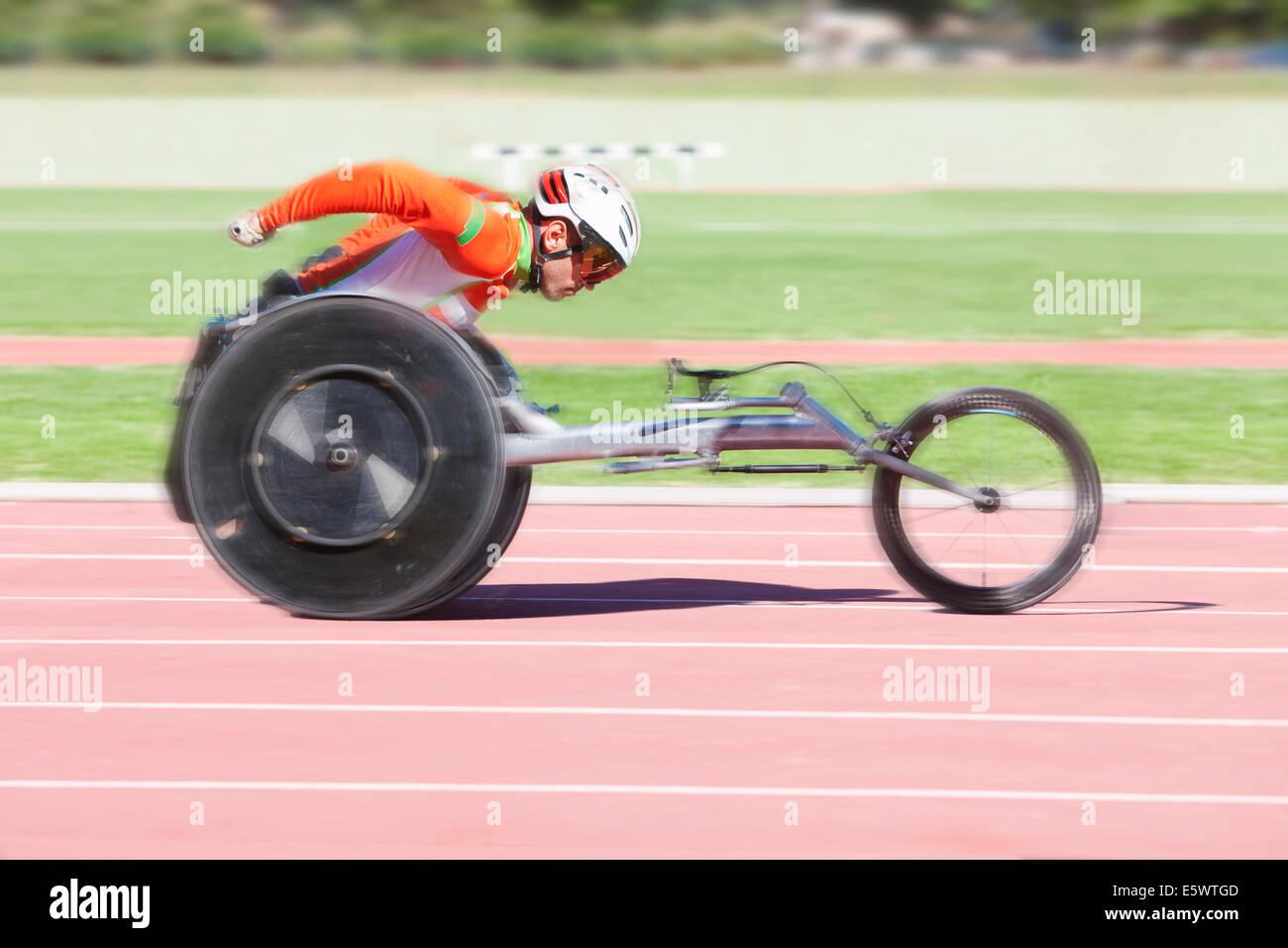 Atleta en Pará-competición deportiva Imagen De Stock
