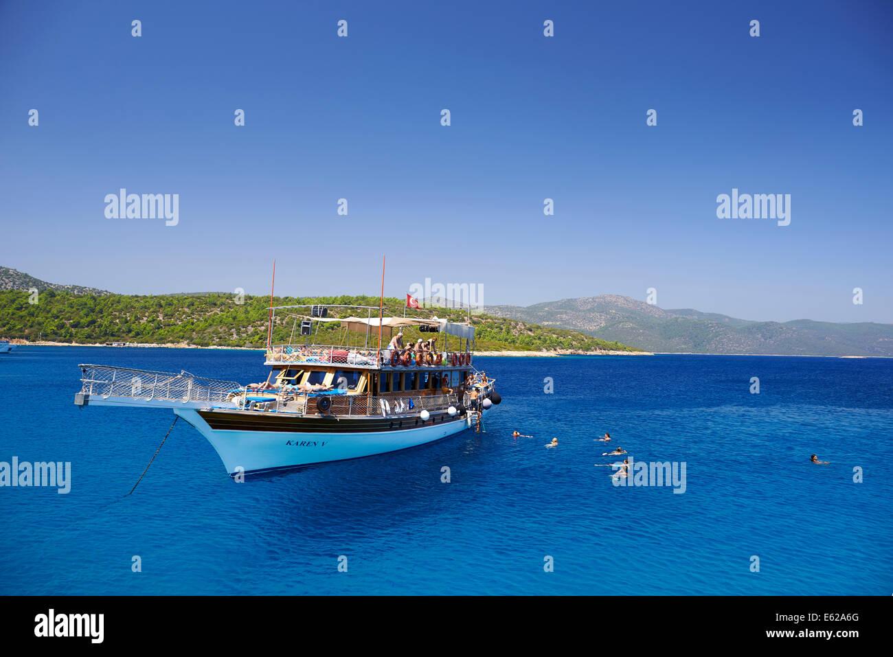 Goleta turca tradicional viaje de placer Imagen De Stock