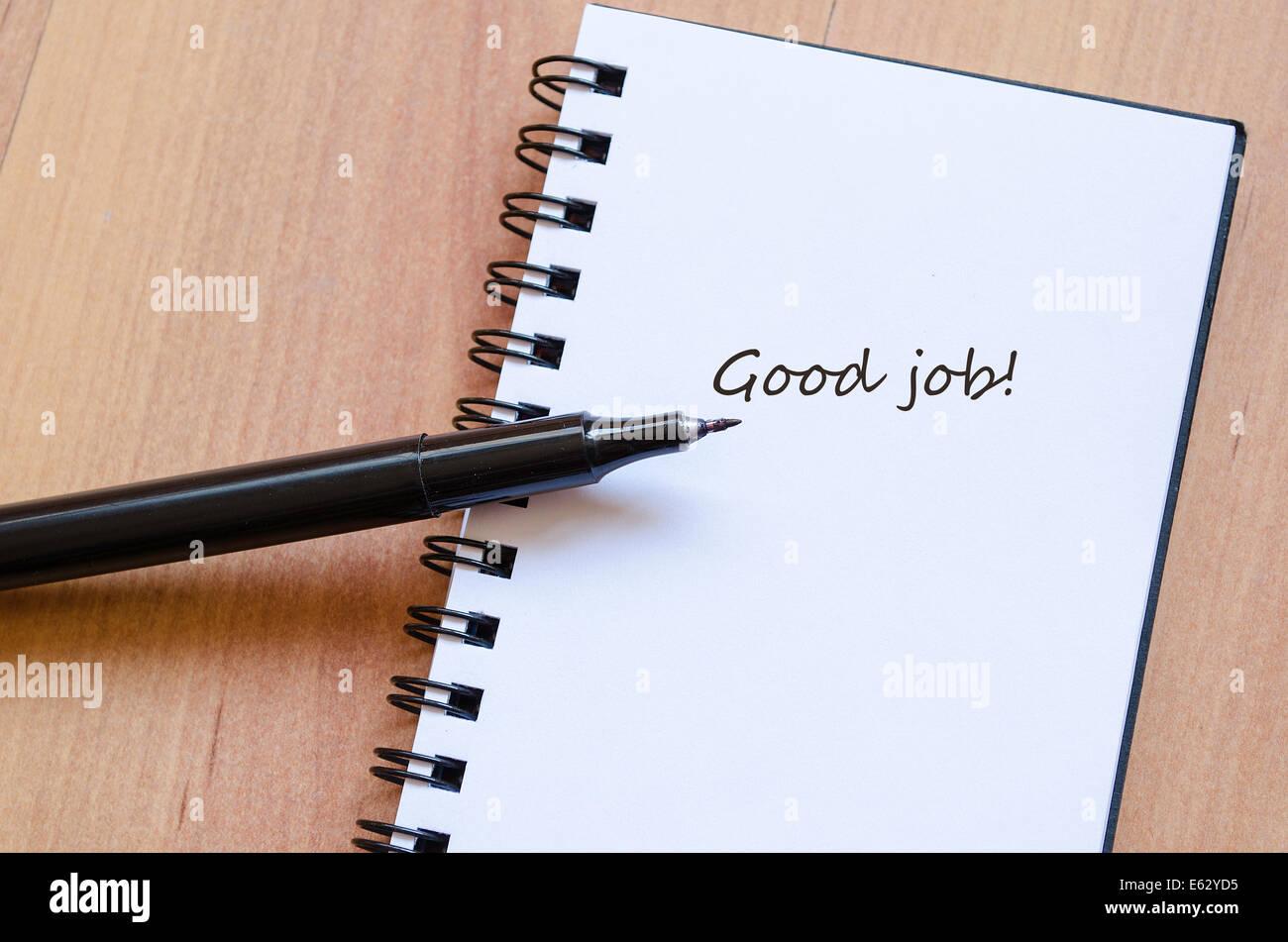 Programación Notepad Buen trabajo Imagen De Stock