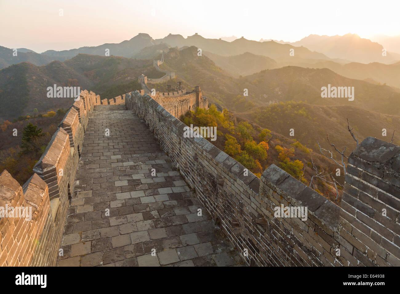 Gran Muralla, tour caminando Jinshanling, Beijing, China Imagen De Stock