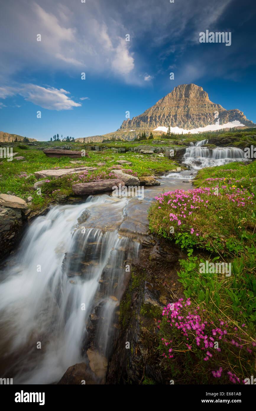 Logan Pass en el parque nacional de Glacier, Montana, situado cerca de la frontera entre Estados Unidos y Canadá Imagen De Stock