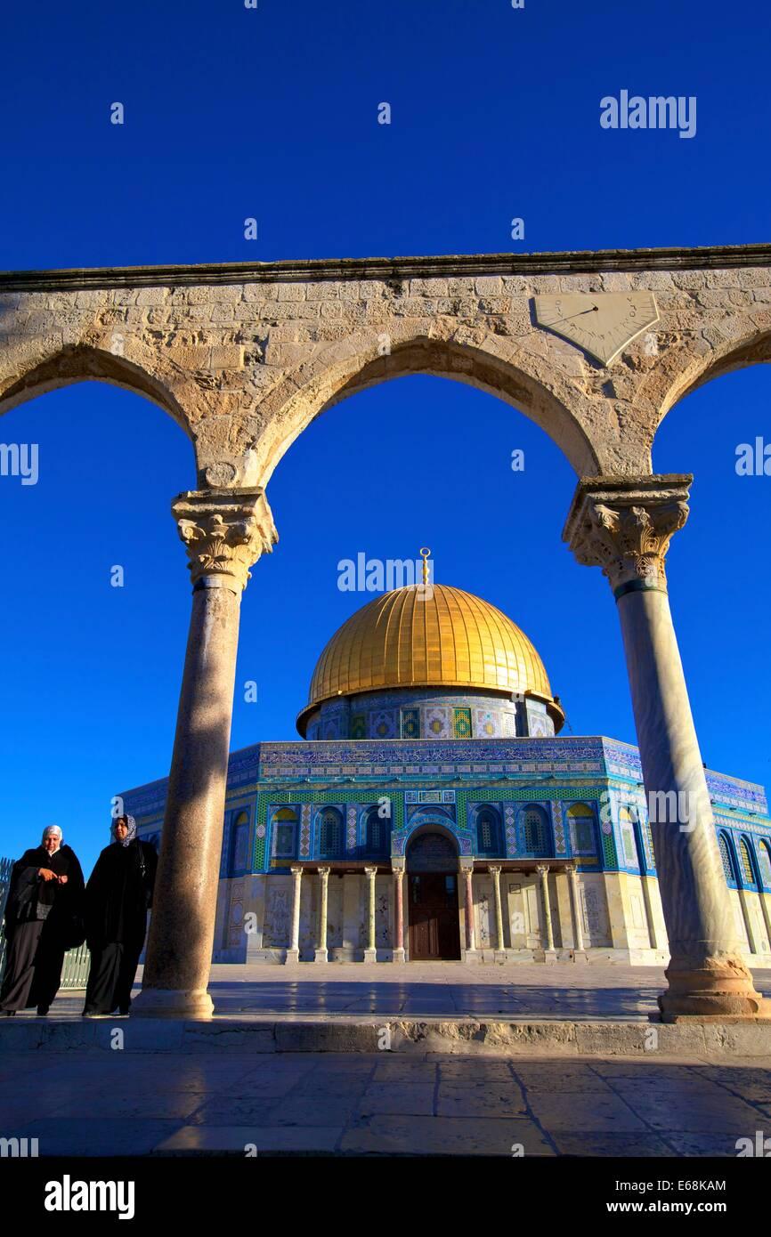 El Monte del Templo, en Jerusalén, Israel, Oriente Medio Foto de stock