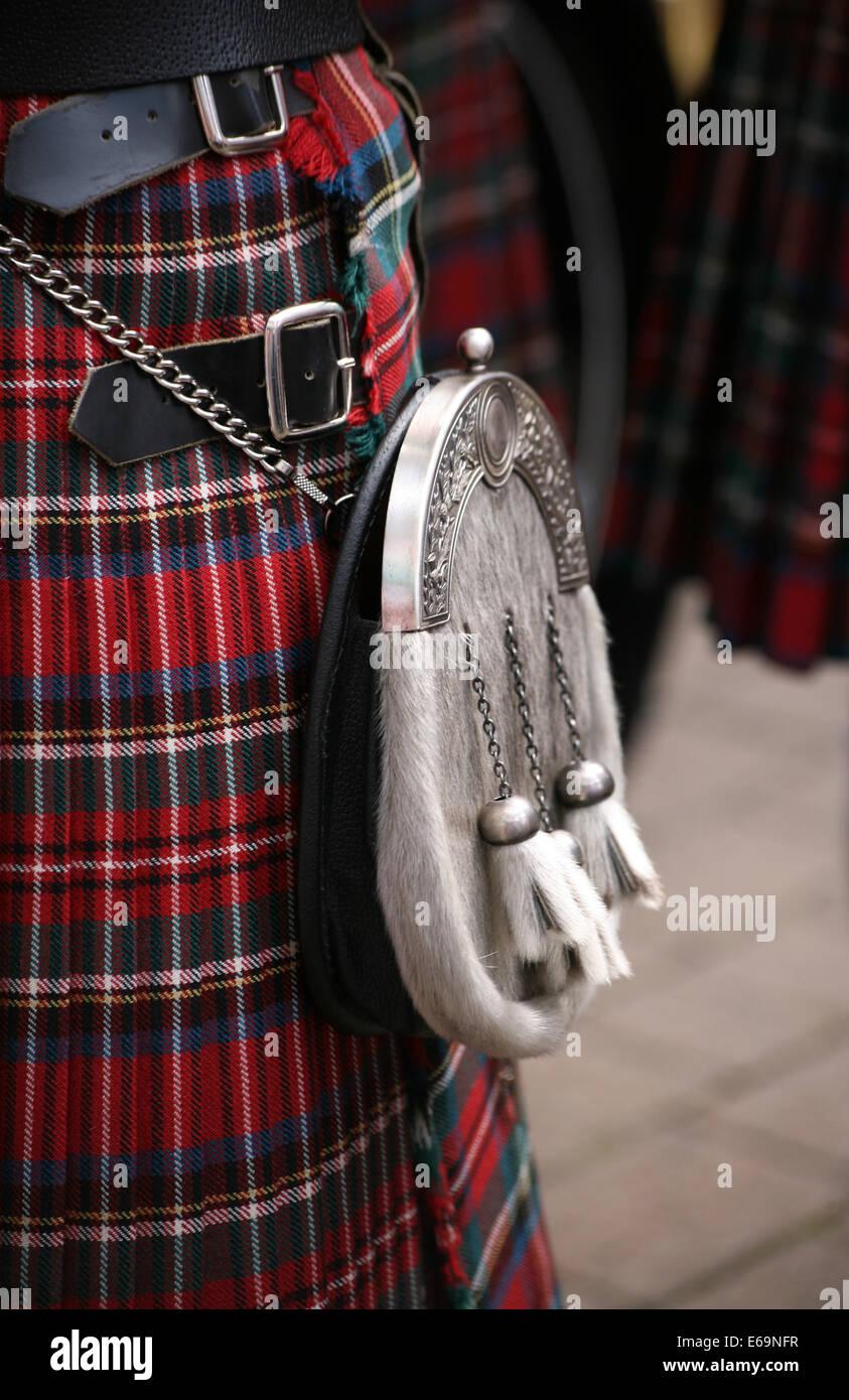 La cultura escocesa,falda escocesa,falda Imagen De Stock