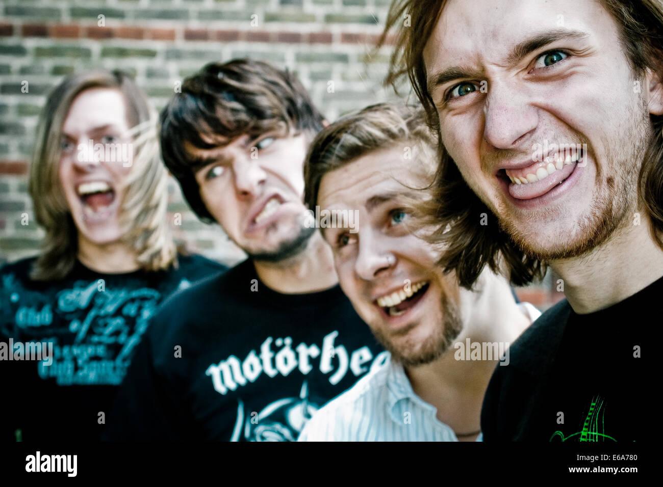 La amistad,la cultura juvenil,rockero,la banda de música Imagen De Stock