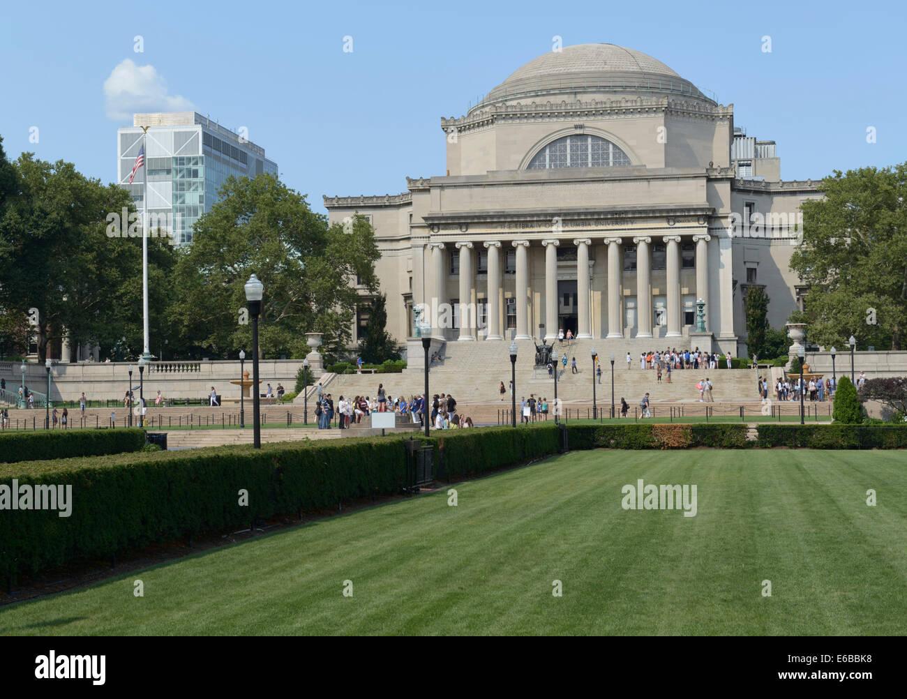 Biblioteca Conmemorativa baja, campus de la Universidad de Columbia Imagen De Stock