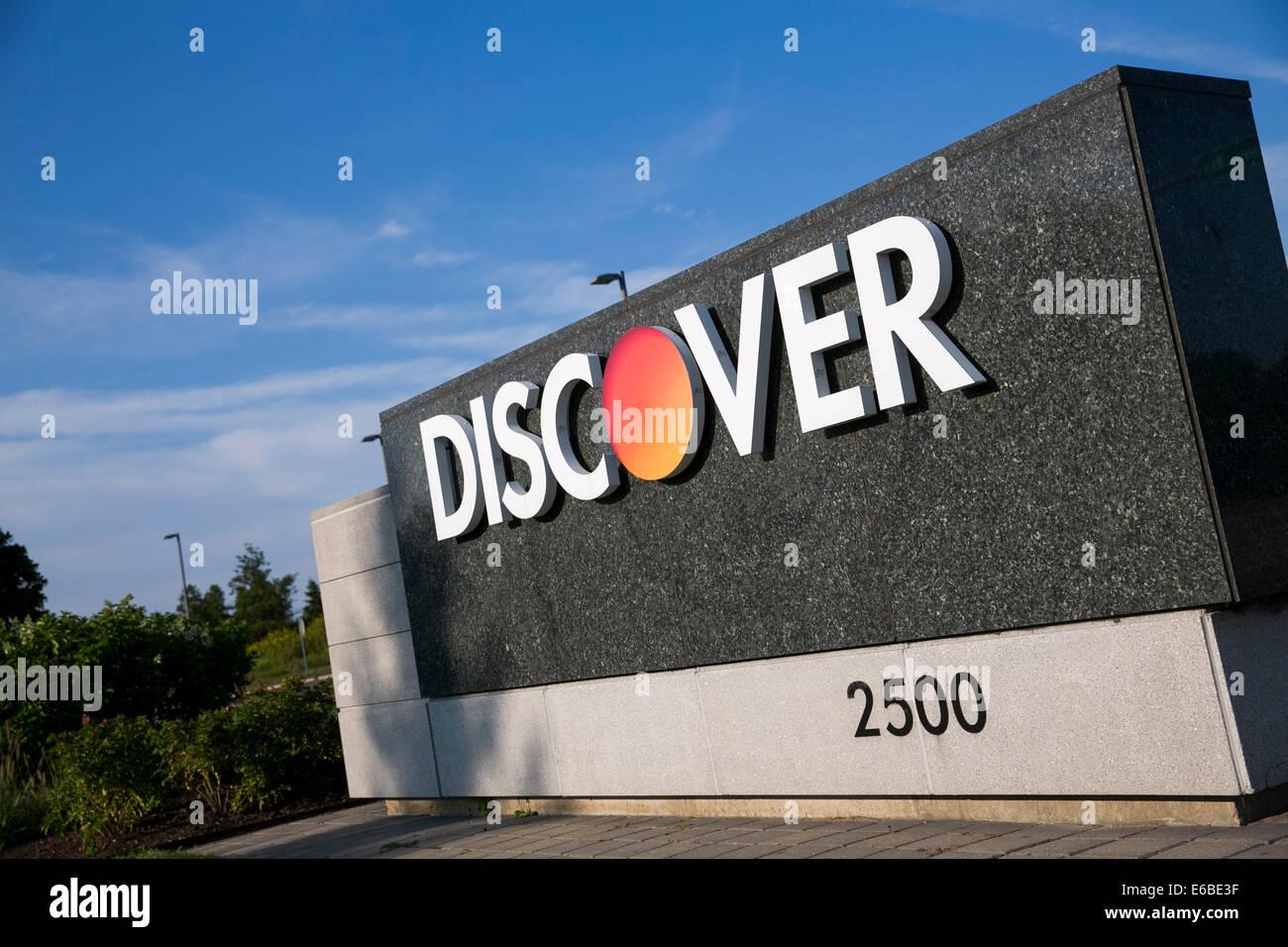La sede de Discover Financial Services en Riverwoods, Illinois. Foto de stock
