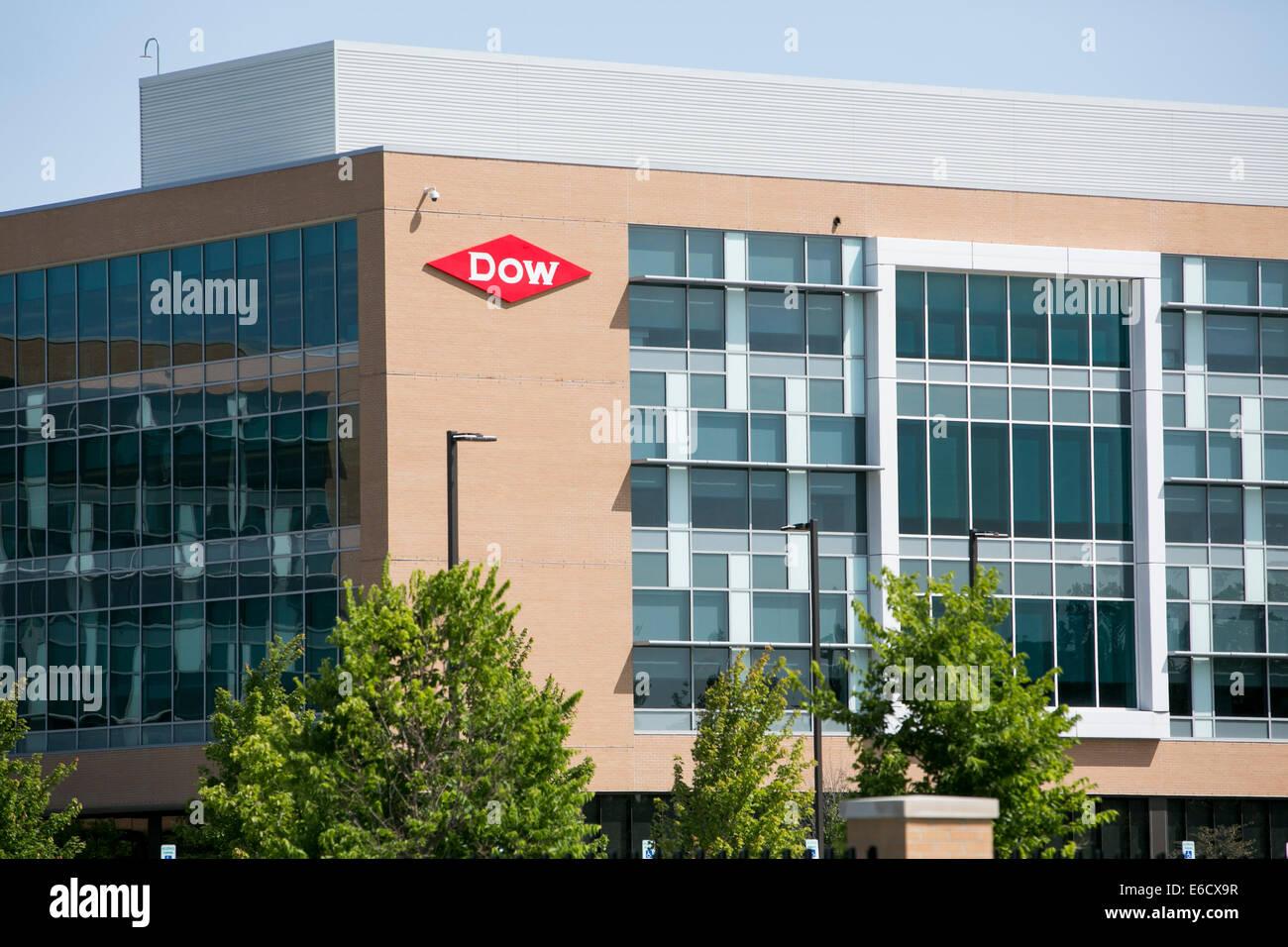 La sede de la compañía Dow Chemical en Midland, Michigan. Imagen De Stock