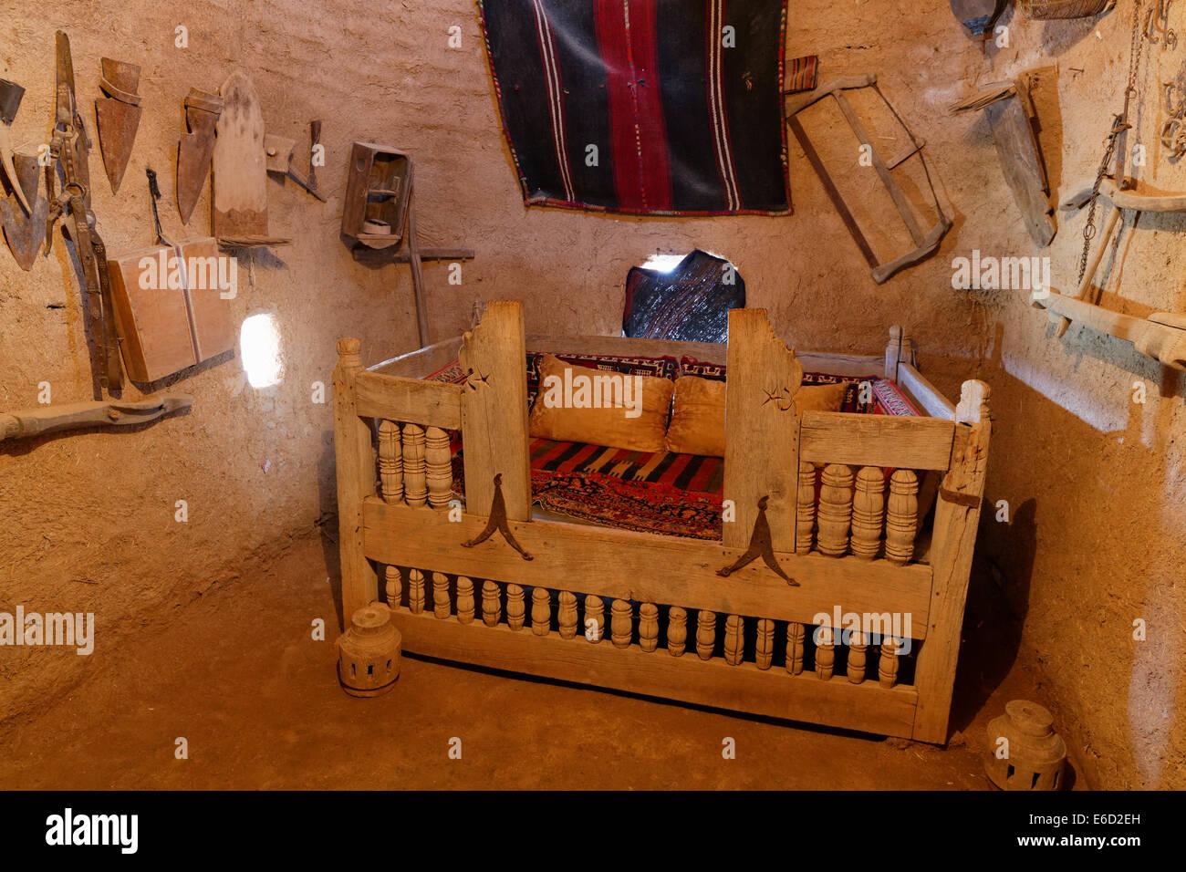 Alojamiento en una casa de barro de Trullo, Harran, provincia de Şanlıurfa, Sureste de la región de Anatolia, Imagen De Stock