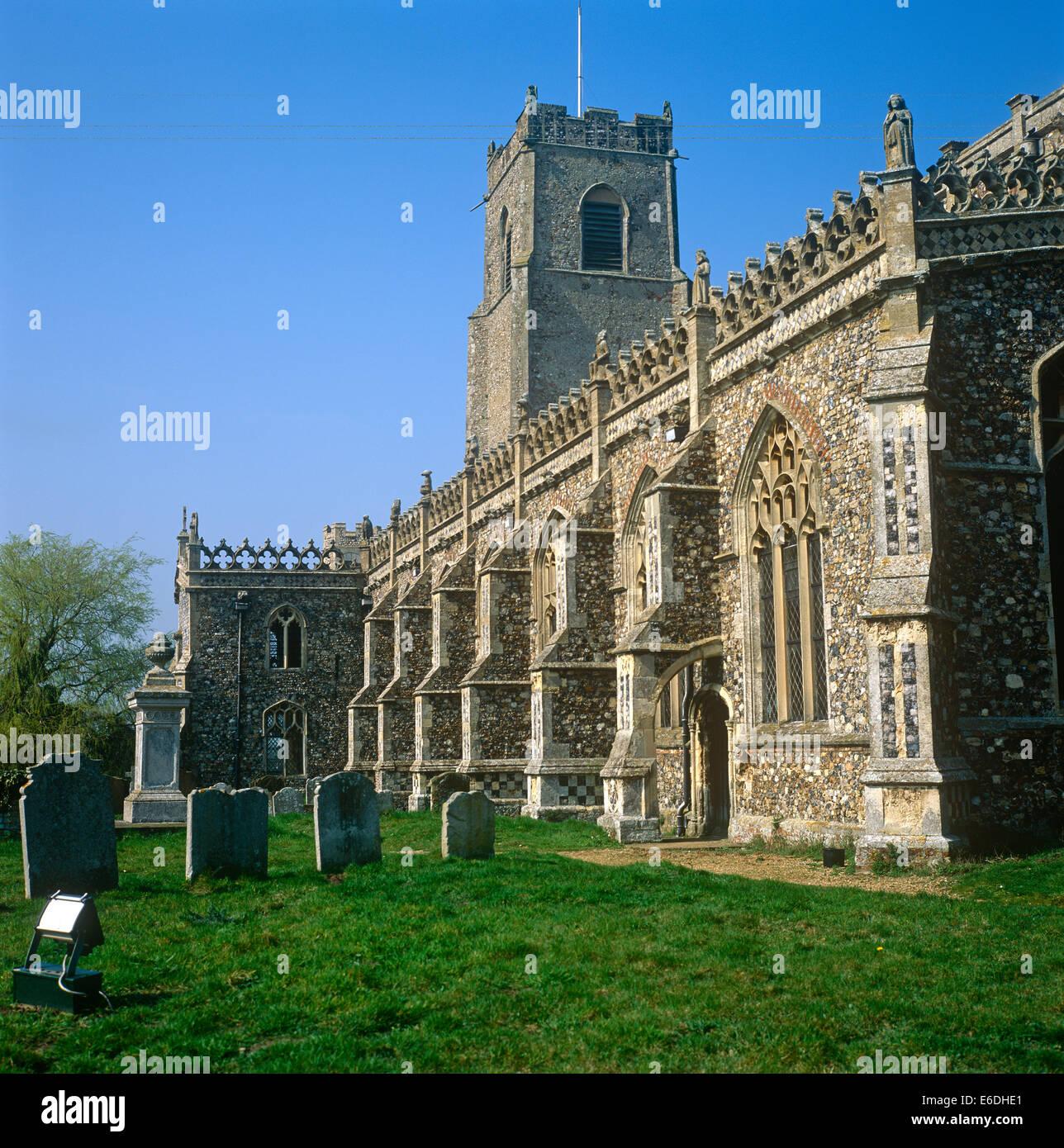 Iglesia de la Santísima Trinidad Suffolk Imagen De Stock