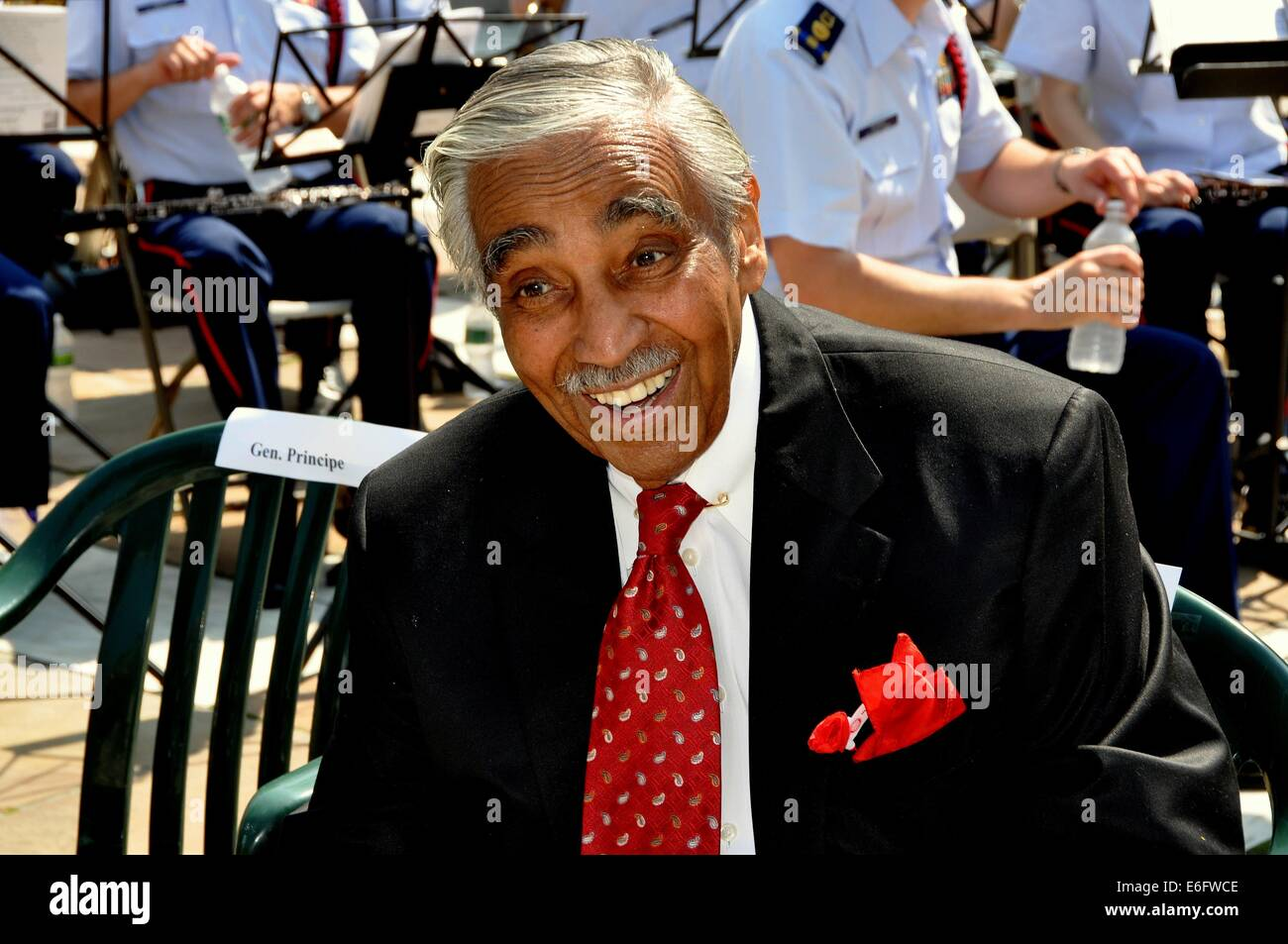 NYC: la Honorable Cámara de Representantes de Estados Unidos El congresista Charles Rangel en la ceremonia Imagen De Stock