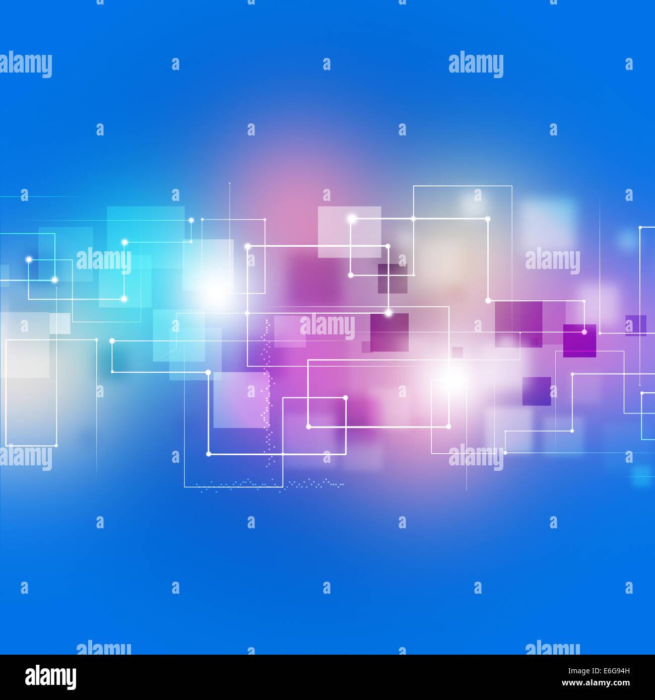 Resumen La tecnología y las comunicaciones empresariales fondo multicolor Imagen De Stock