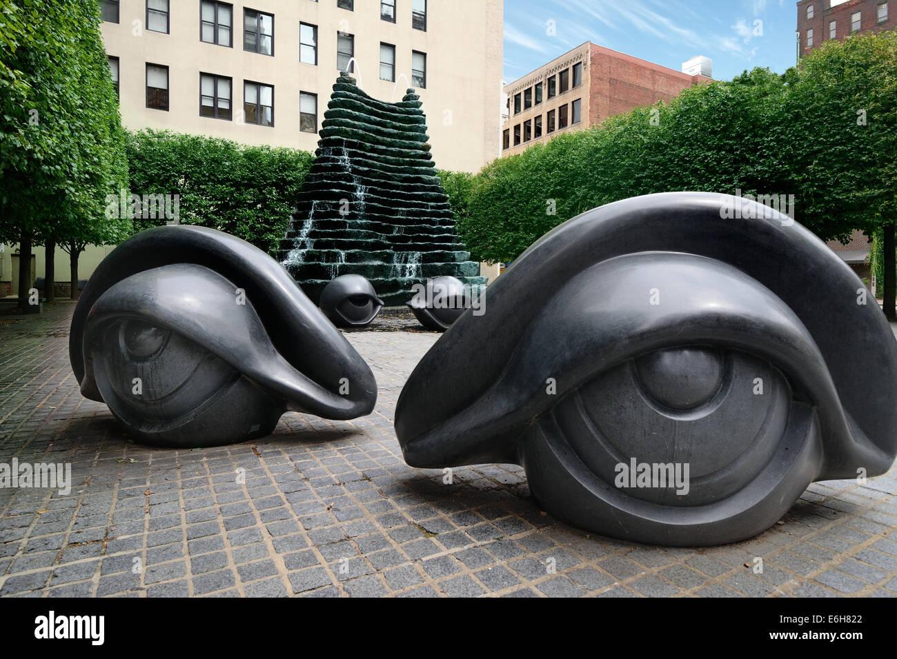 """Agnes R. Katz Plaza en el centro de la ciudad de Pittsburgh, PA, es también conocido como """"Parque del Imagen De Stock"""