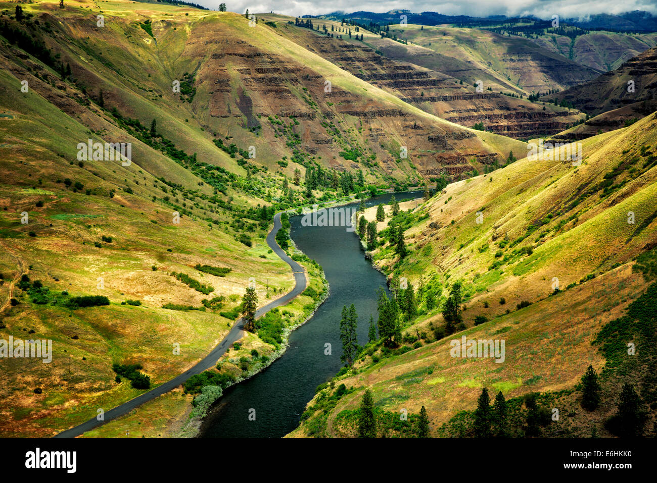 Grand Ronde salvaje y escénico Río y cañón. Oregon Imagen De Stock