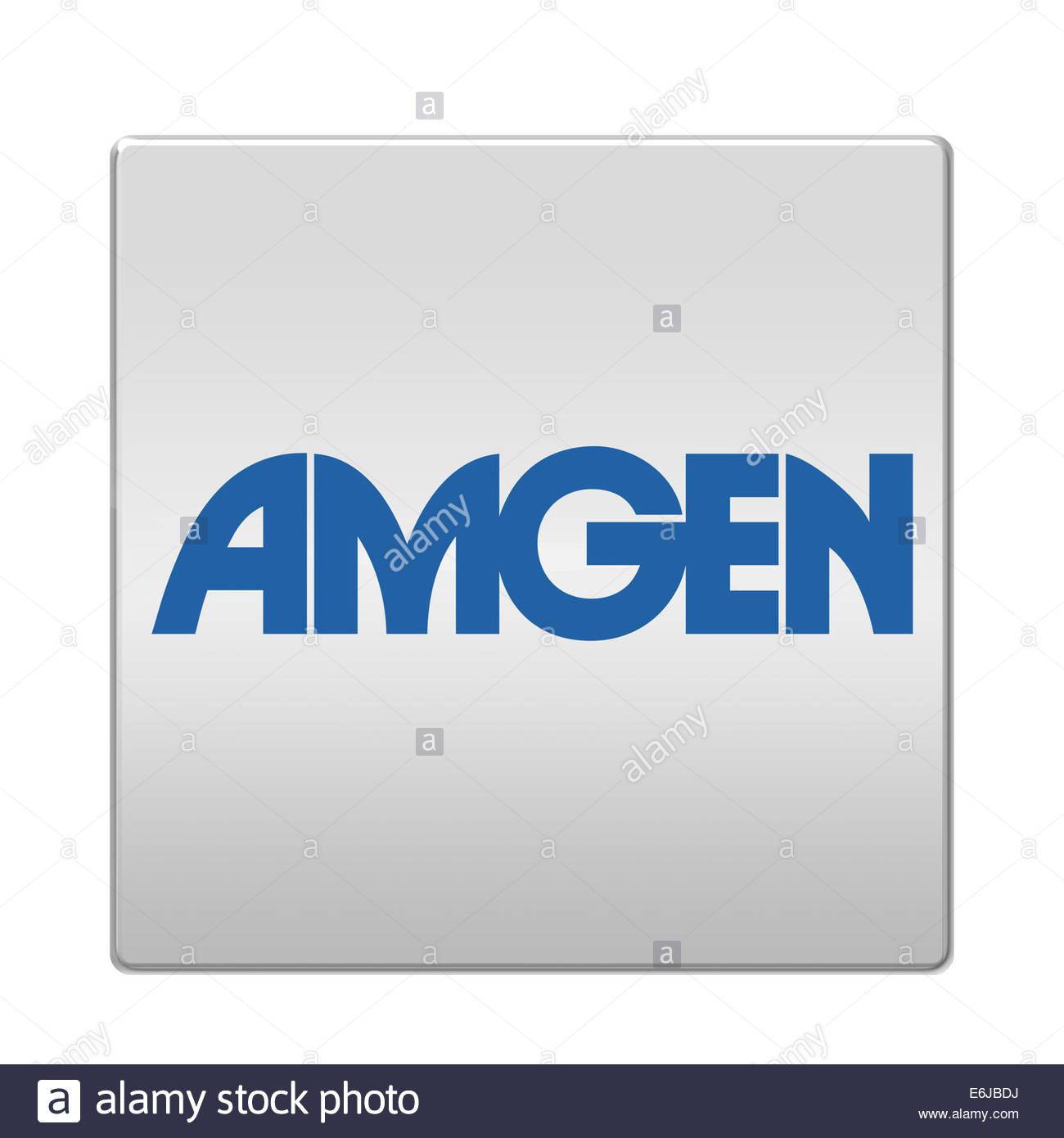 Amgen logotipo Ícono aislado botón app Imagen De Stock