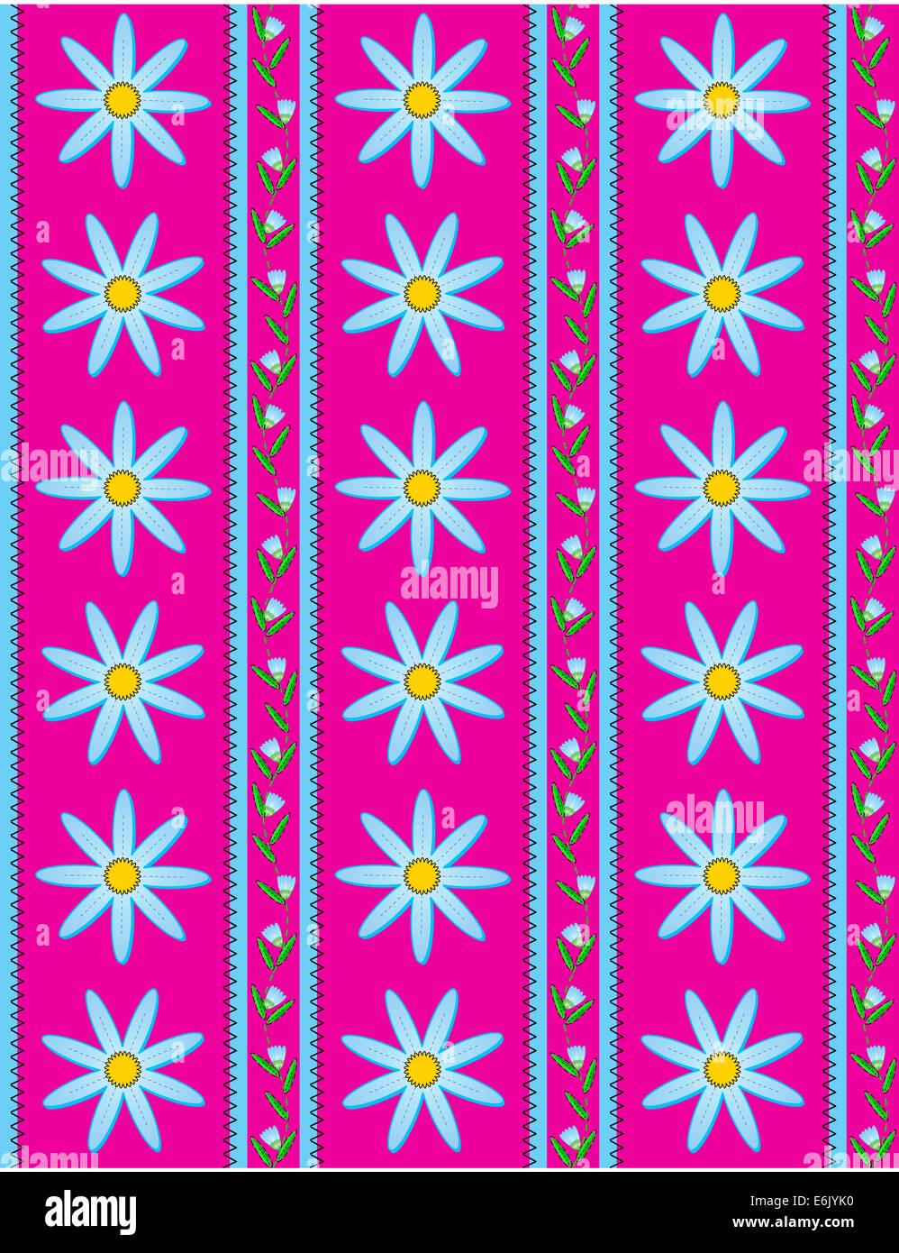 Jpg Fondo De Pantalla De Rayas Rosa Con Flores Azules Bud Vid Y